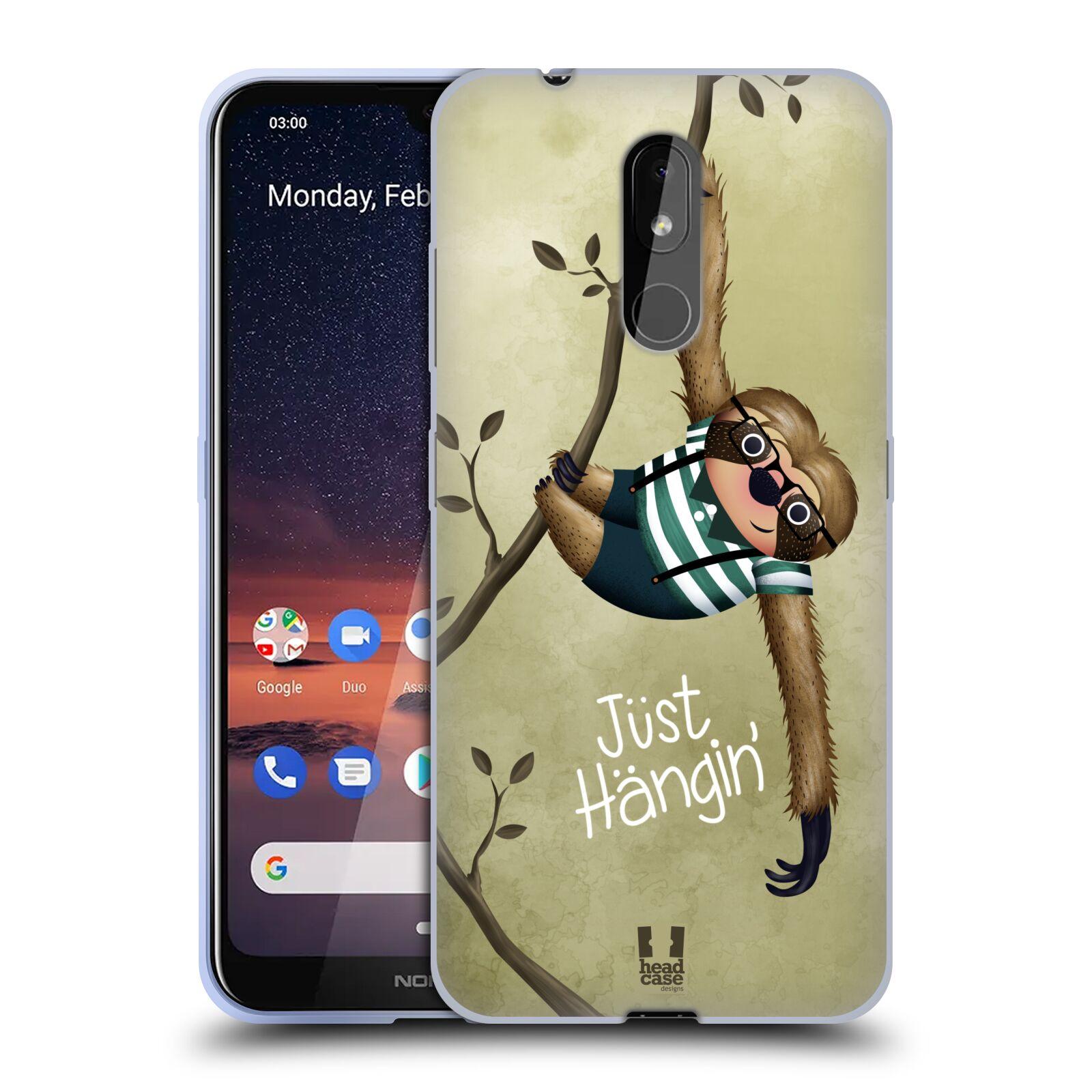 Silikonové pouzdro na mobil Nokia 3.2 - Head Case - Lenochod Just Hangin