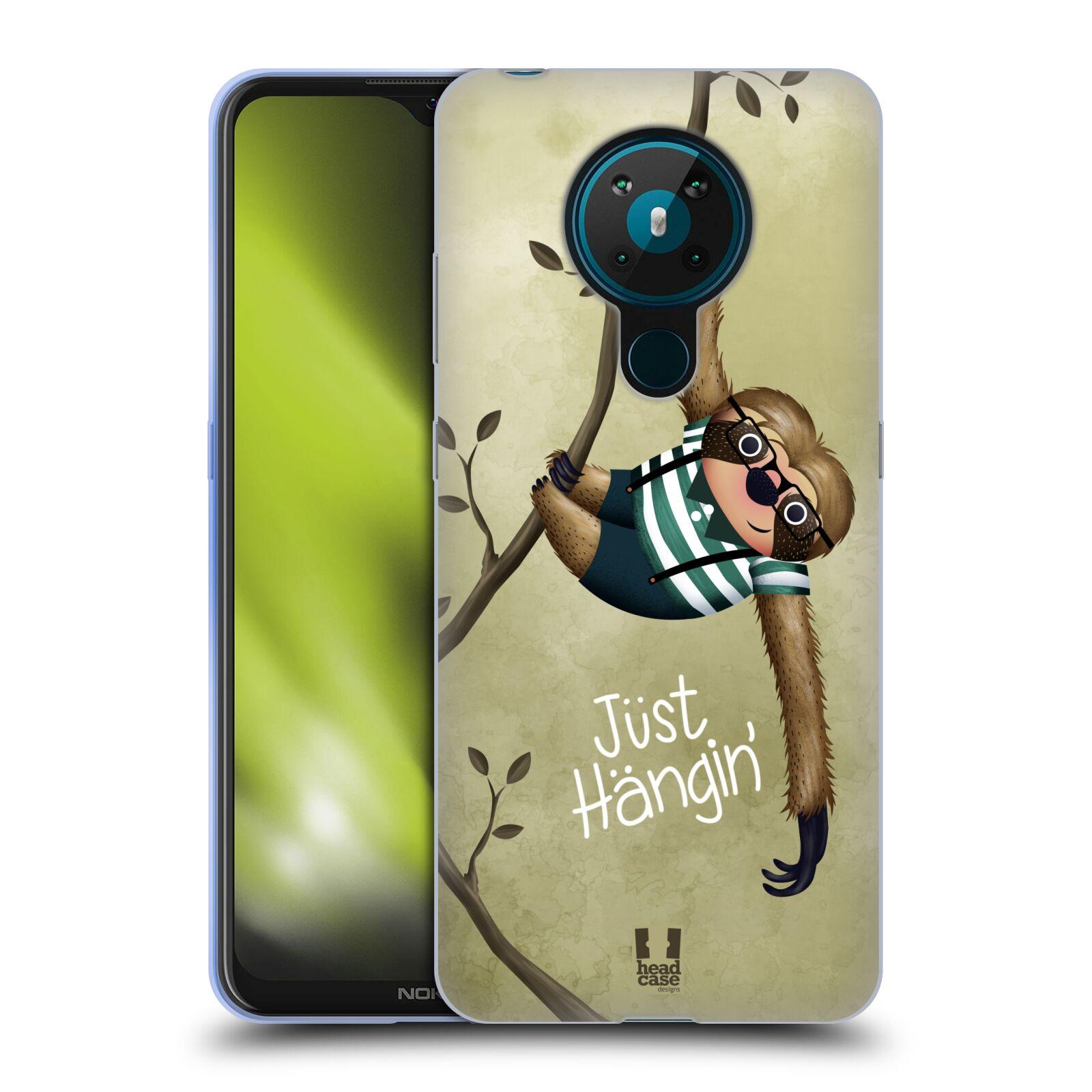 Silikonové pouzdro na mobil Nokia 5.3 - Head Case - Lenochod Just Hangin