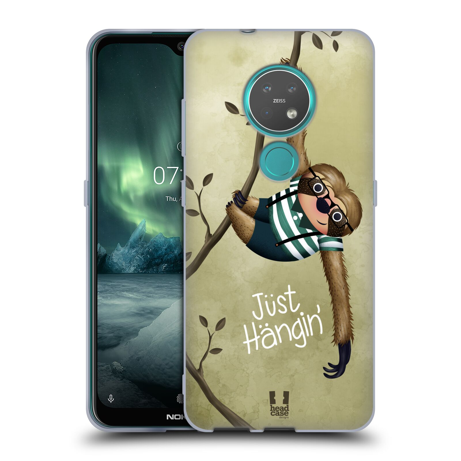 Silikonové pouzdro na mobil Nokia 7.2 - Head Case - Lenochod Just Hangin