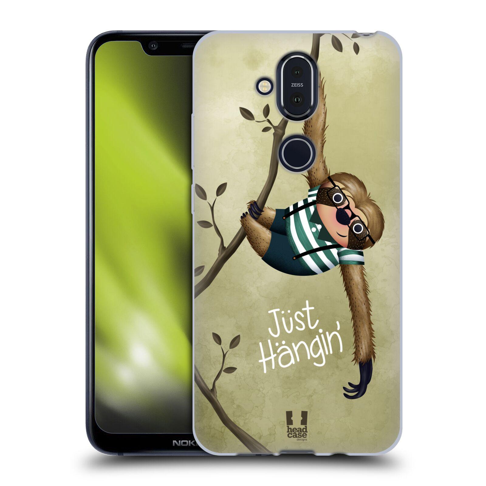 Silikonové pouzdro na mobil Nokia 8.1 - Head Case - Lenochod Just Hangin
