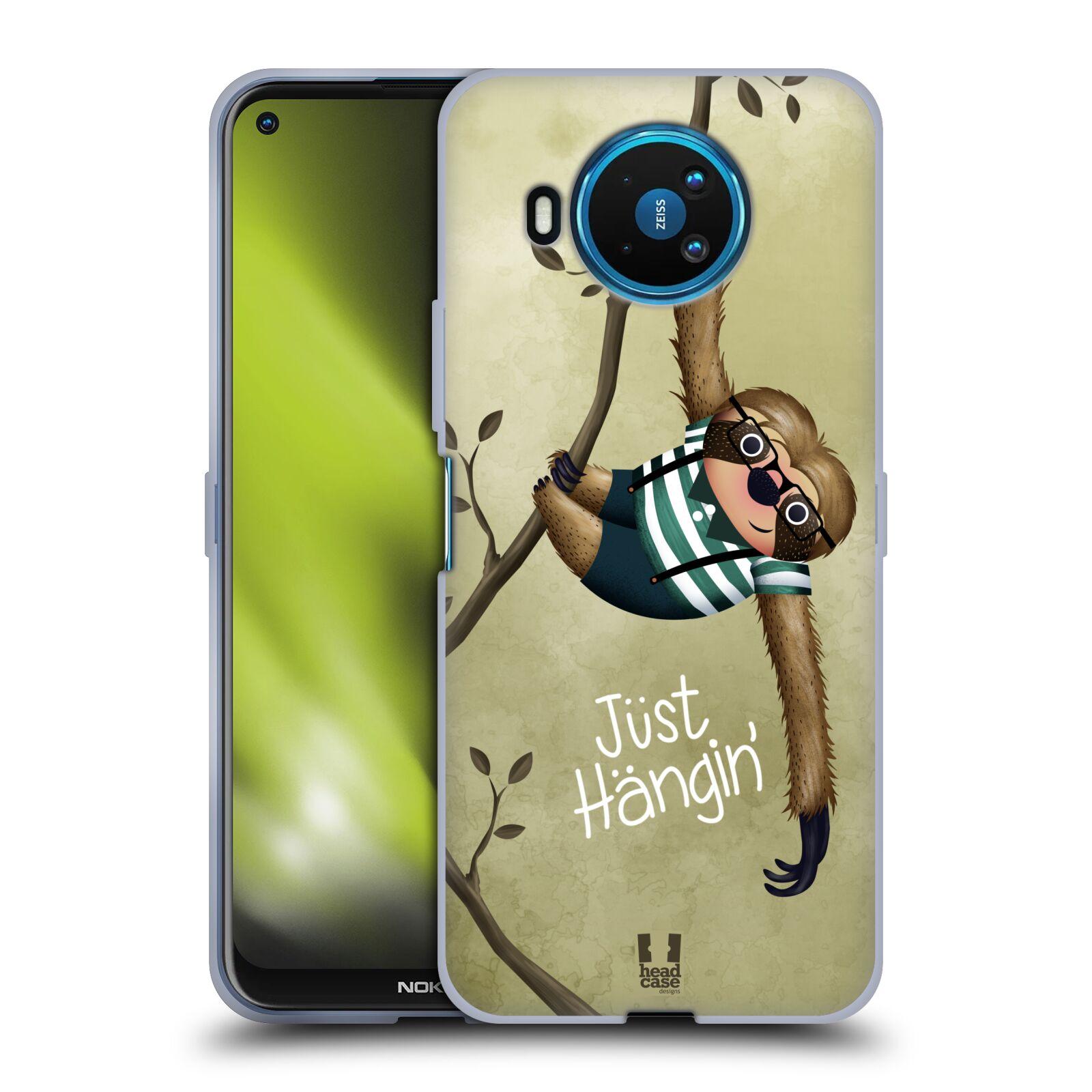 Silikonové pouzdro na mobil Nokia 8.3 5G - Head Case - Lenochod Just Hangin