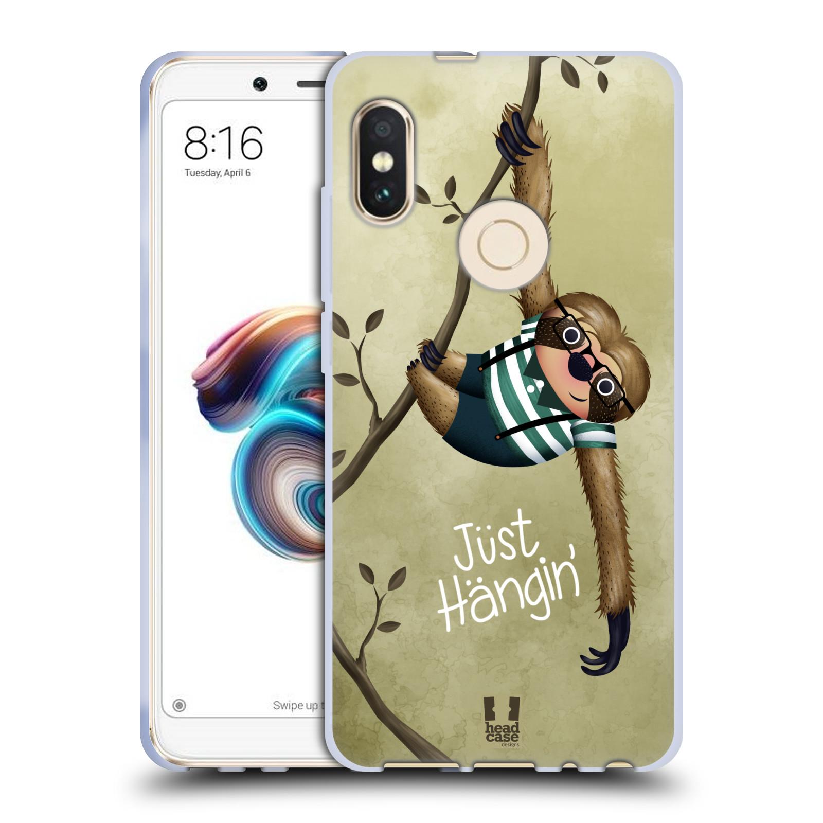 Silikonové pouzdro na mobil Xiaomi Redmi Note 5 - Head Case - Lenochod Just Hangin