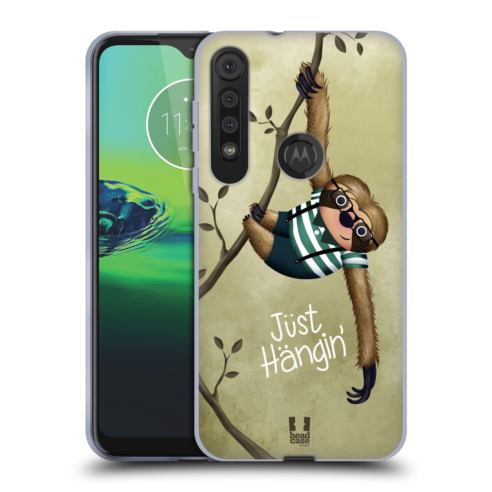 Silikonové pouzdro na mobil Motorola One Macro - Head Case - Lenochod Just Hangin