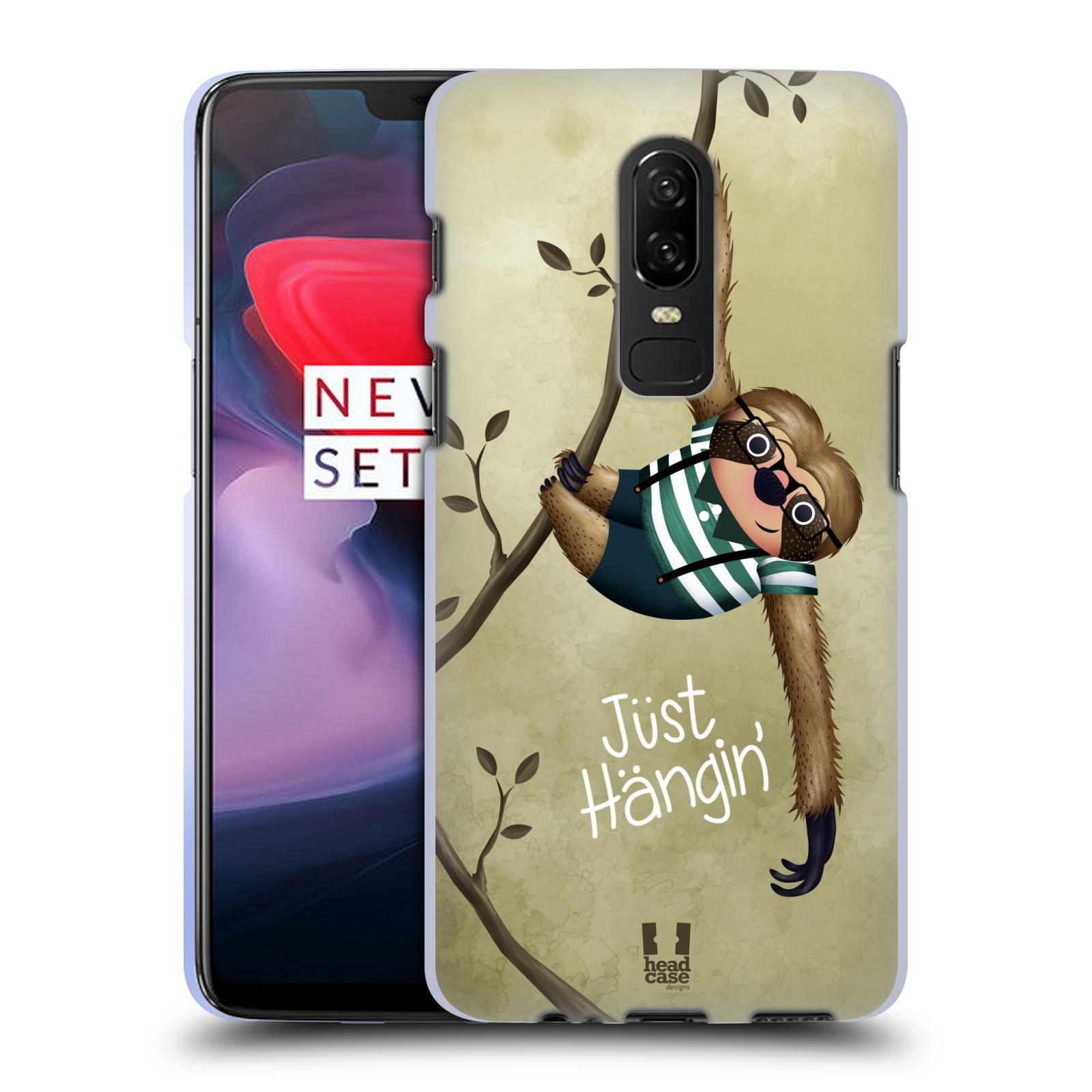 Silikonové pouzdro na mobil OnePlus 6 - Head Case - Lenochod Just Hangin