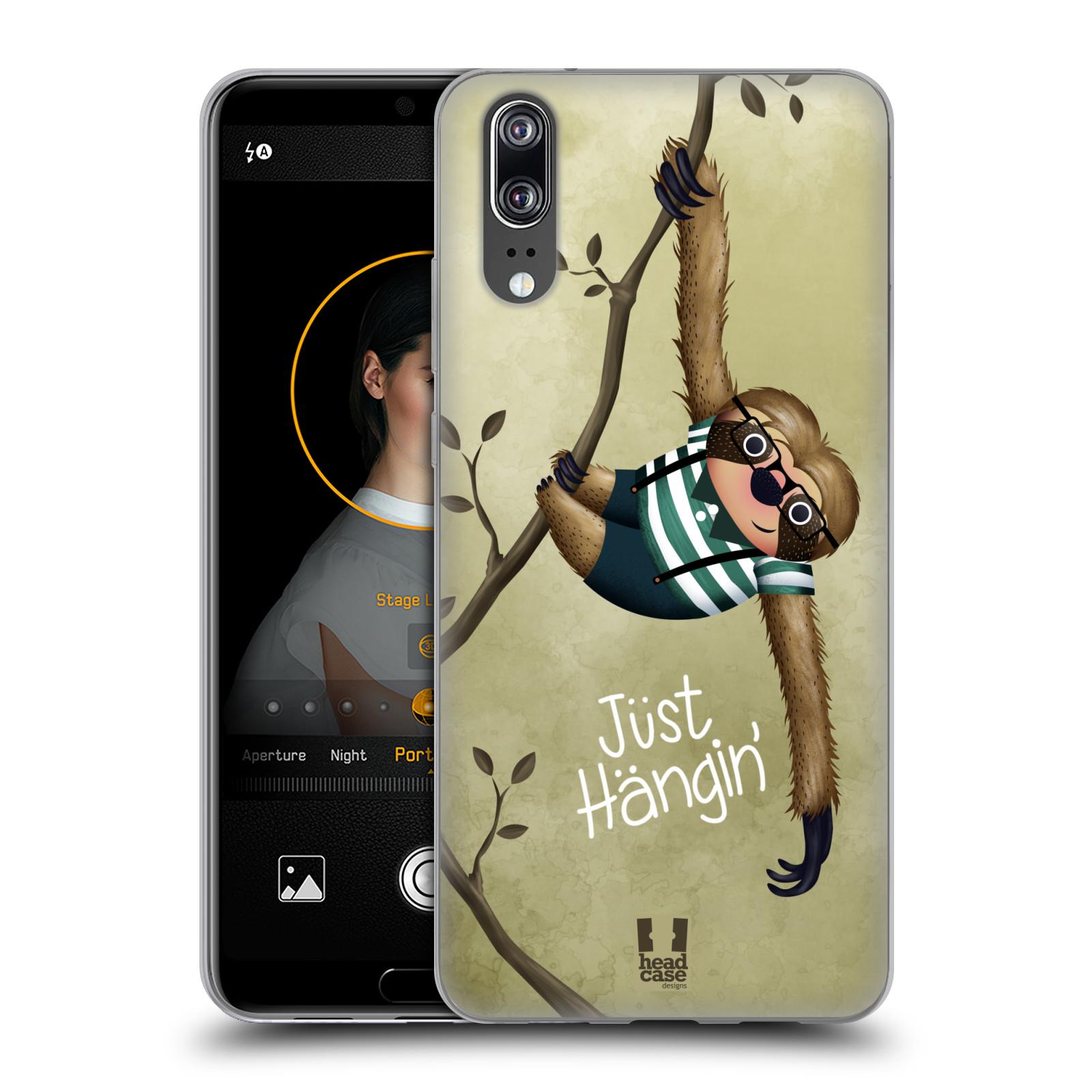 Silikonové pouzdro na mobil Huawei P20 - Head Case - Lenochod Just Hangin