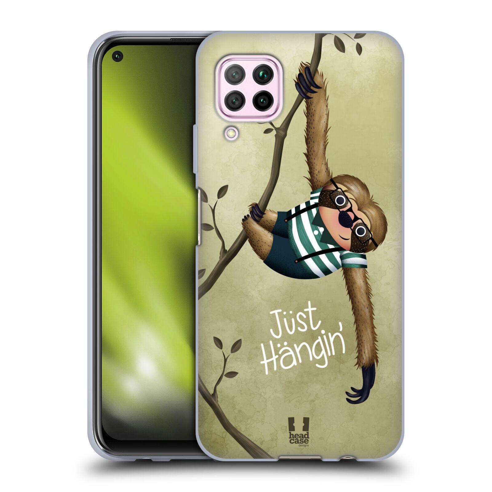 Silikonové pouzdro na mobil Huawei P40 Lite - Head Case - Lenochod Just Hangin