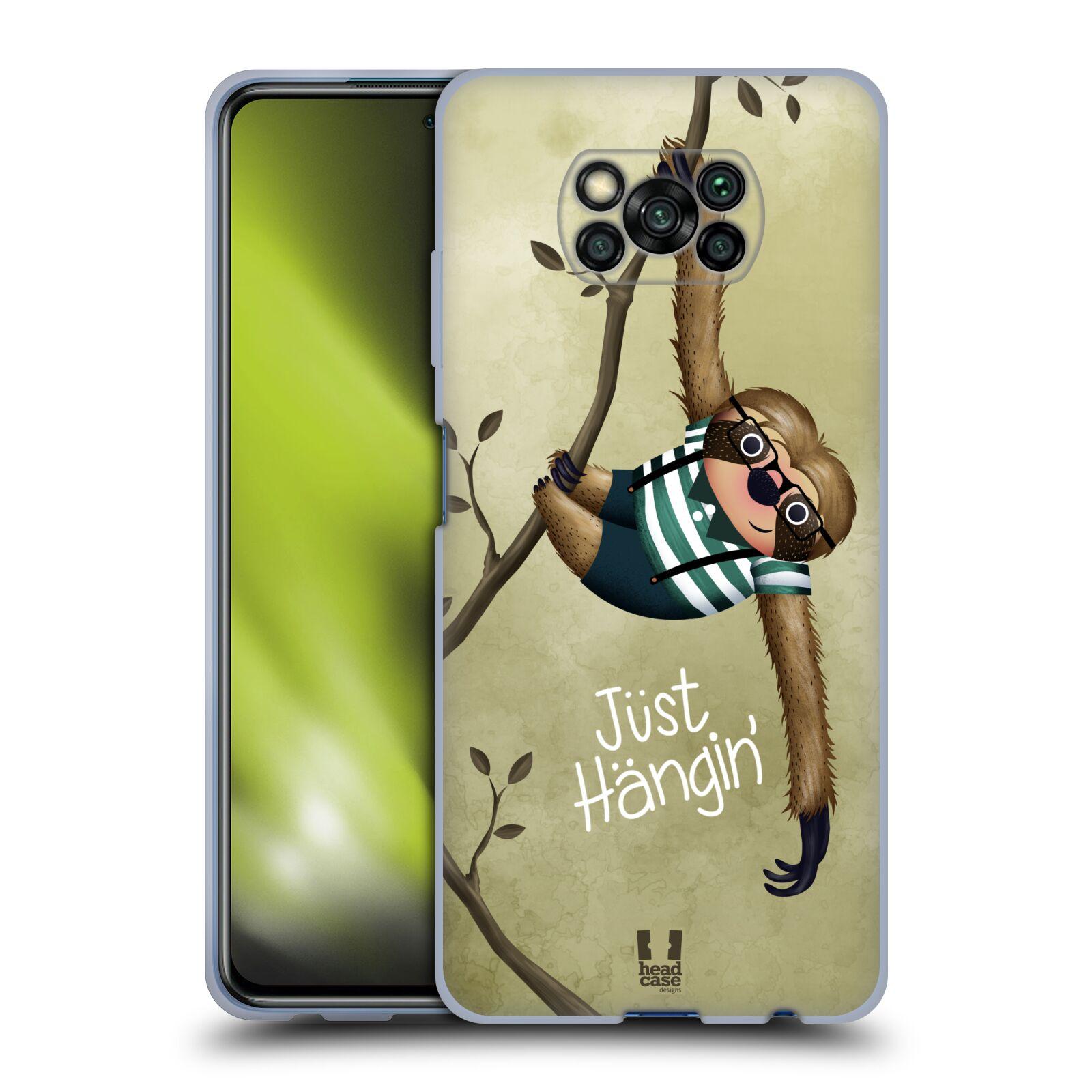 Silikonové pouzdro na mobil Xiaomi Poco X3 NFC - Head Case - Lenochod Just Hangin