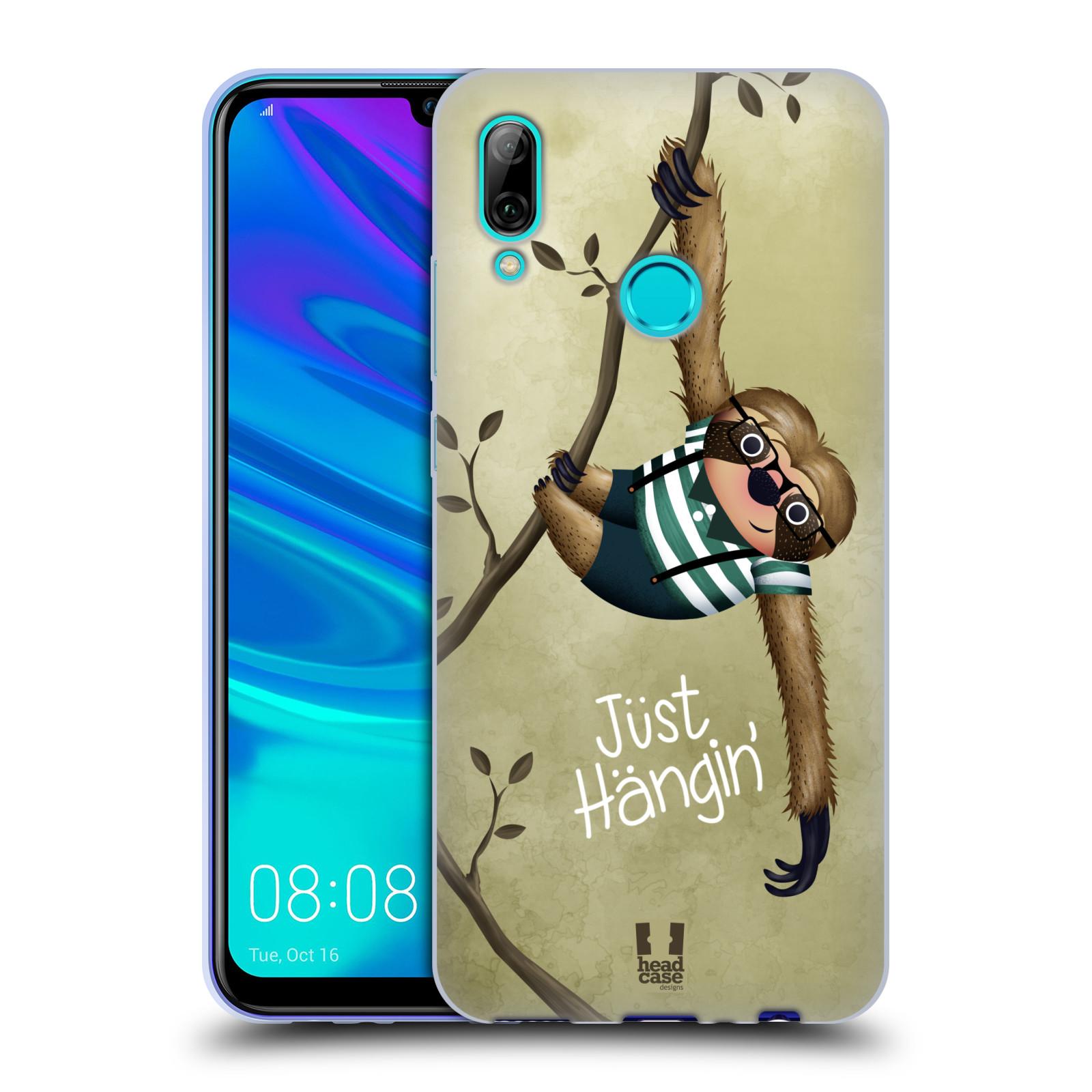 Silikonové pouzdro na mobil Huawei P Smart (2019) - Head Case - Lenochod Just Hangin