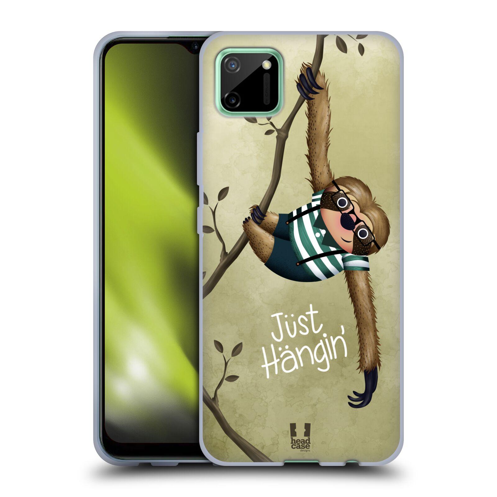 Silikonové pouzdro na mobil Realme C11 - Head Case - Lenochod Just Hangin