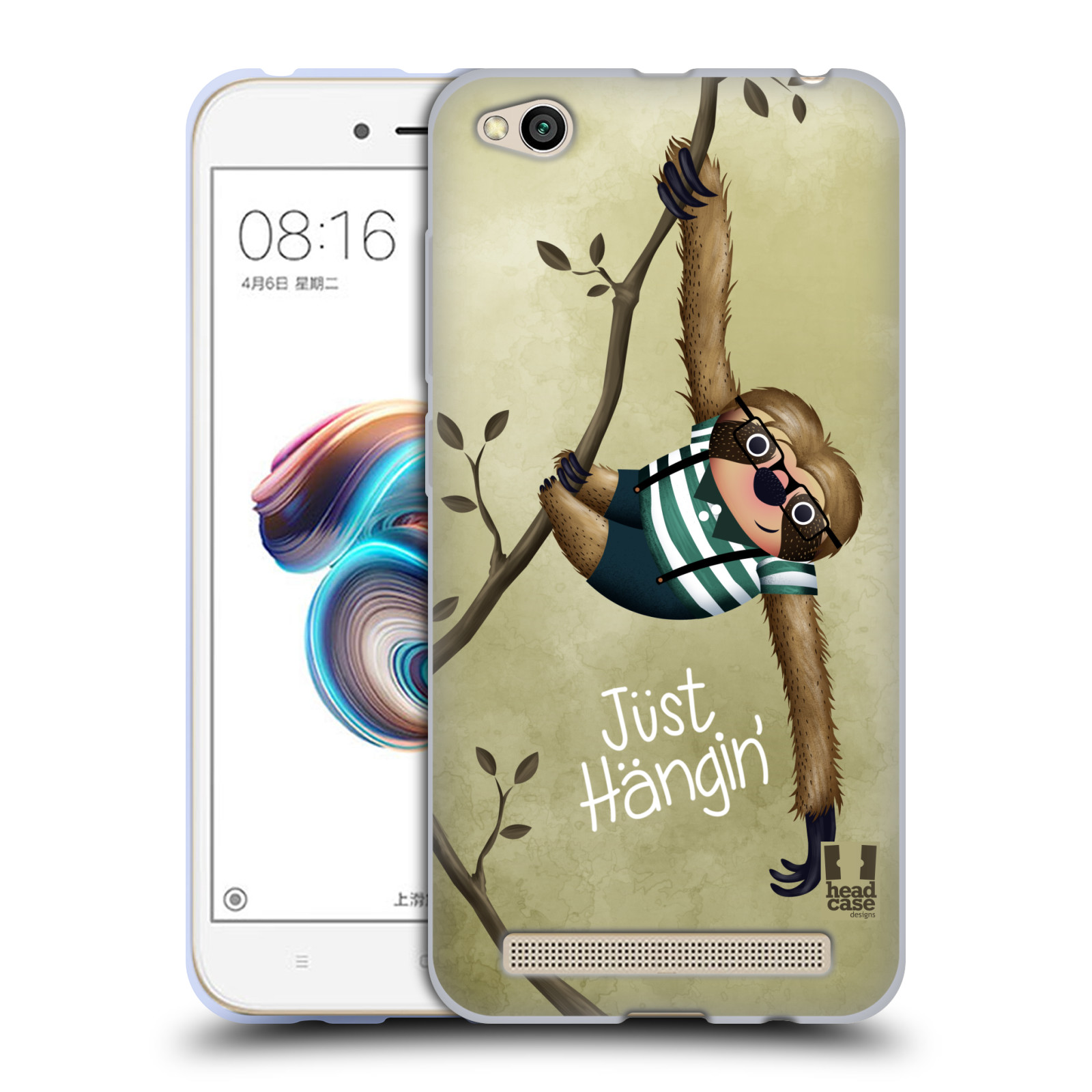 Silikonové pouzdro na mobil Xiaomi Redmi 5A - Head Case - Lenochod Just Hangin