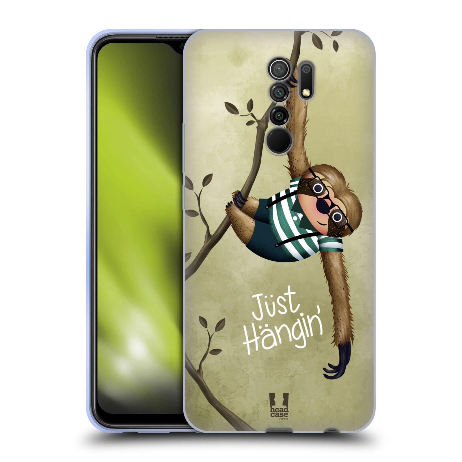 Silikonové pouzdro na mobil Xiaomi Redmi 9 - Head Case - Lenochod Just Hangin