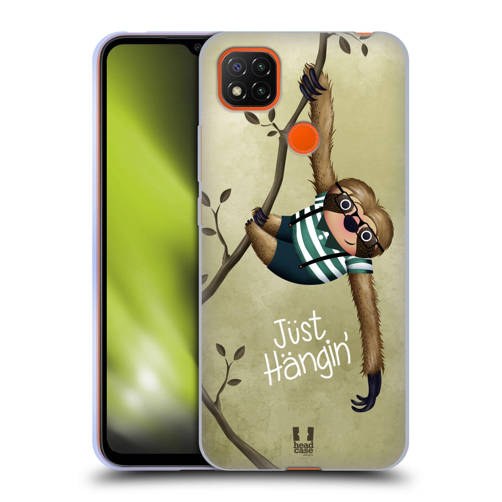 Silikonové pouzdro na mobil Xiaomi Redmi 9C - Head Case - Lenochod Just Hangin
