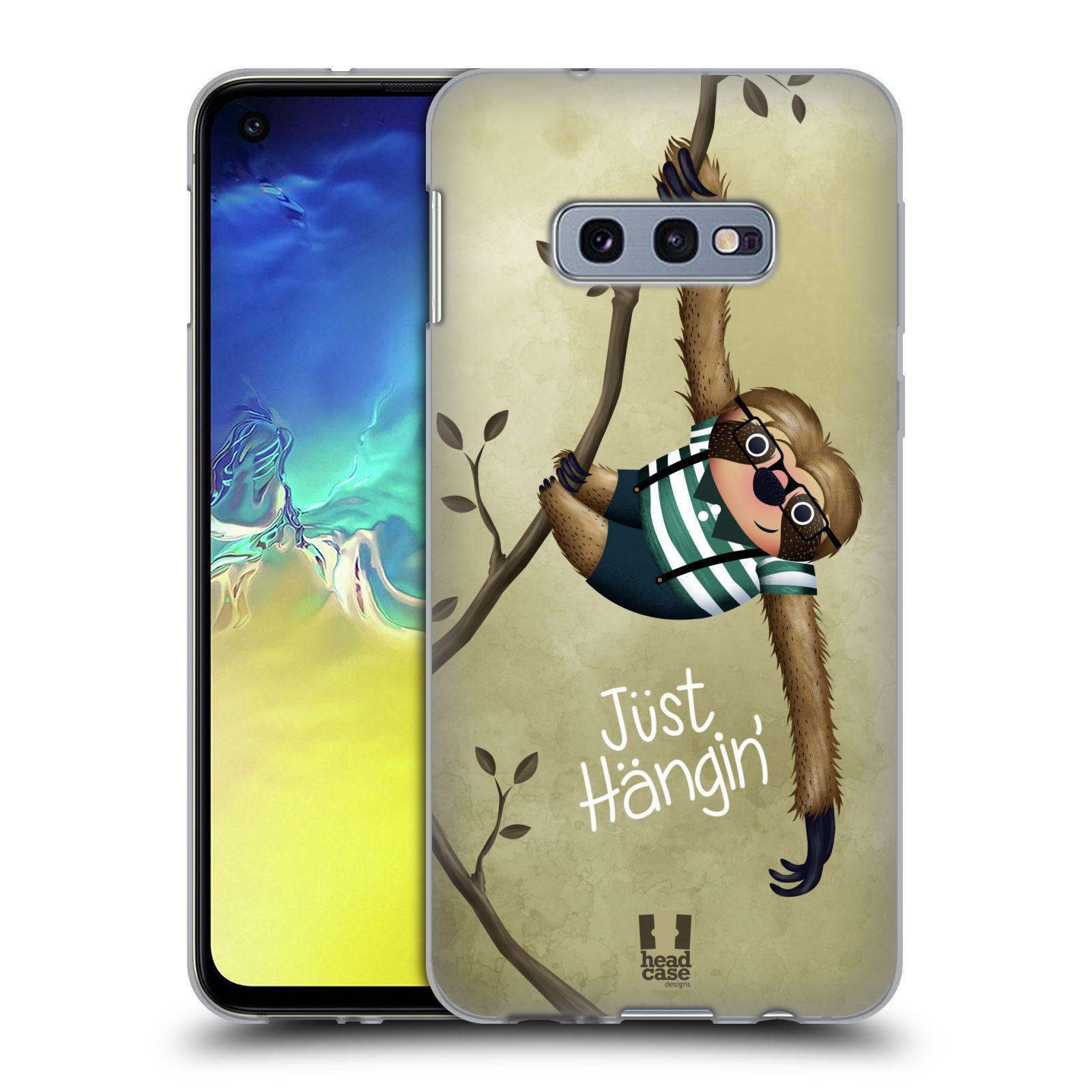 Silikonové pouzdro na mobil Samsung Galaxy S10e - Head Case - Lenochod Just Hangin
