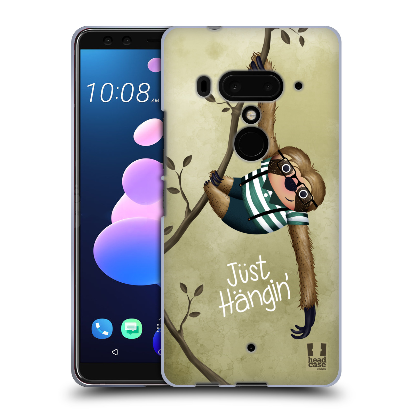 Silikonové pouzdro na mobil HTC U12 Plus - Head Case - Lenochod Just Hangin