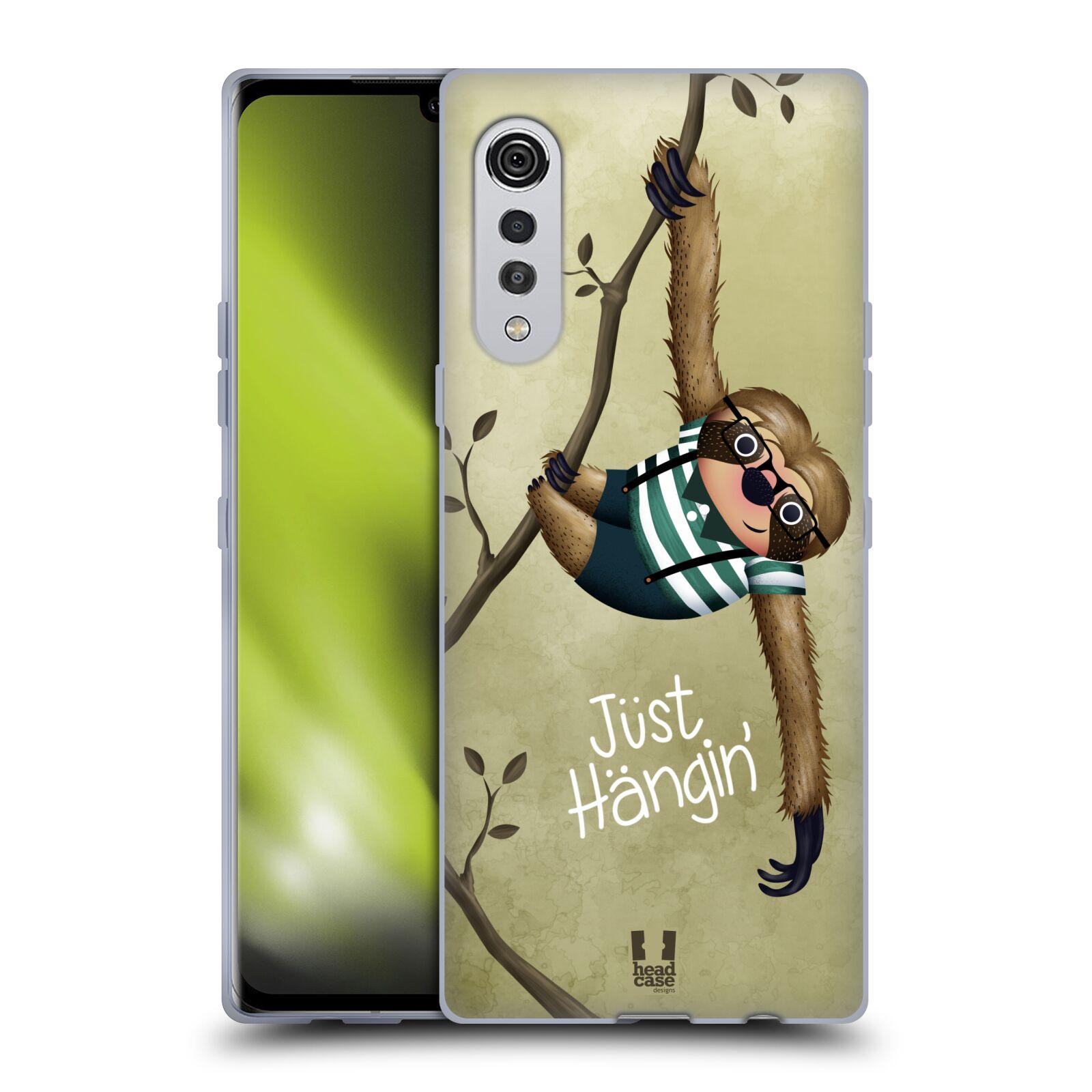 Silikonové pouzdro na mobil LG Velvet - Head Case - Lenochod Just Hangin