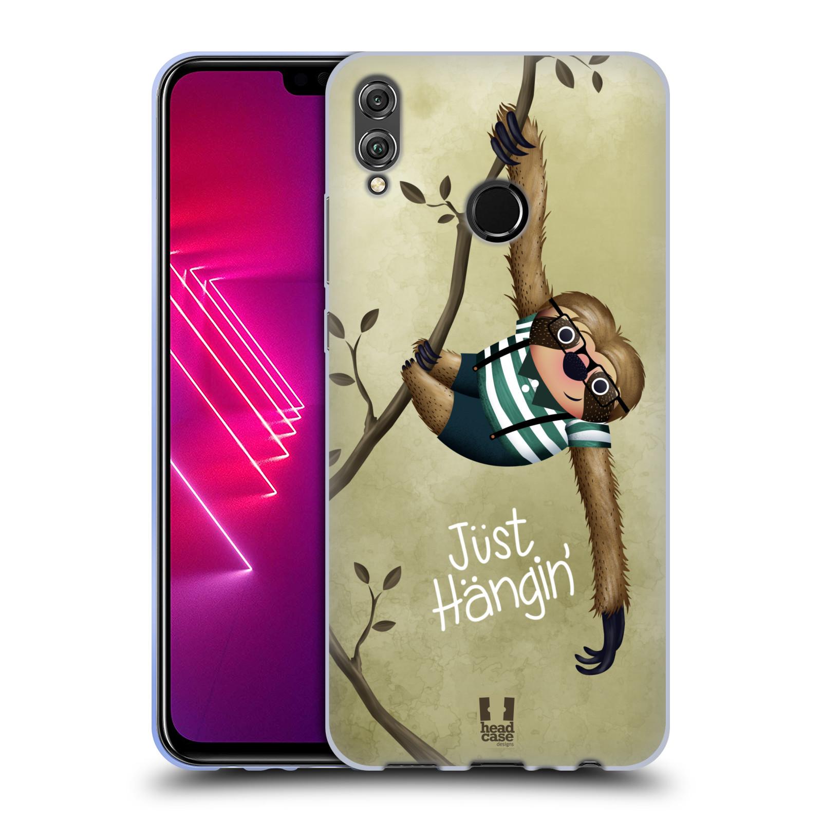Silikonové pouzdro na mobil Honor View 10 Lite - Head Case - Lenochod Just Hangin