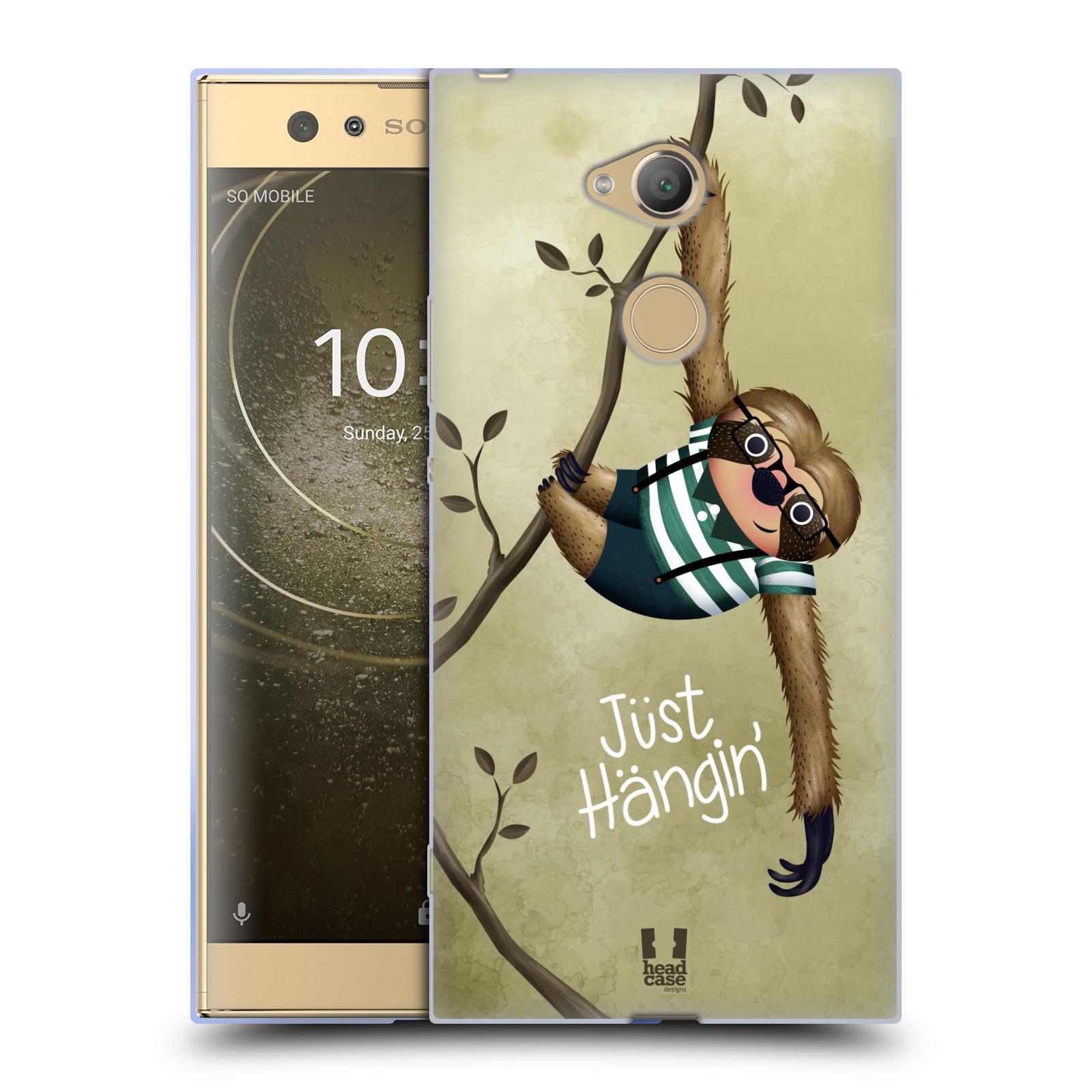 Silikonové pouzdro na mobil Sony Xperia XA2 Ultra - Head Case - Lenochod Just Hangin