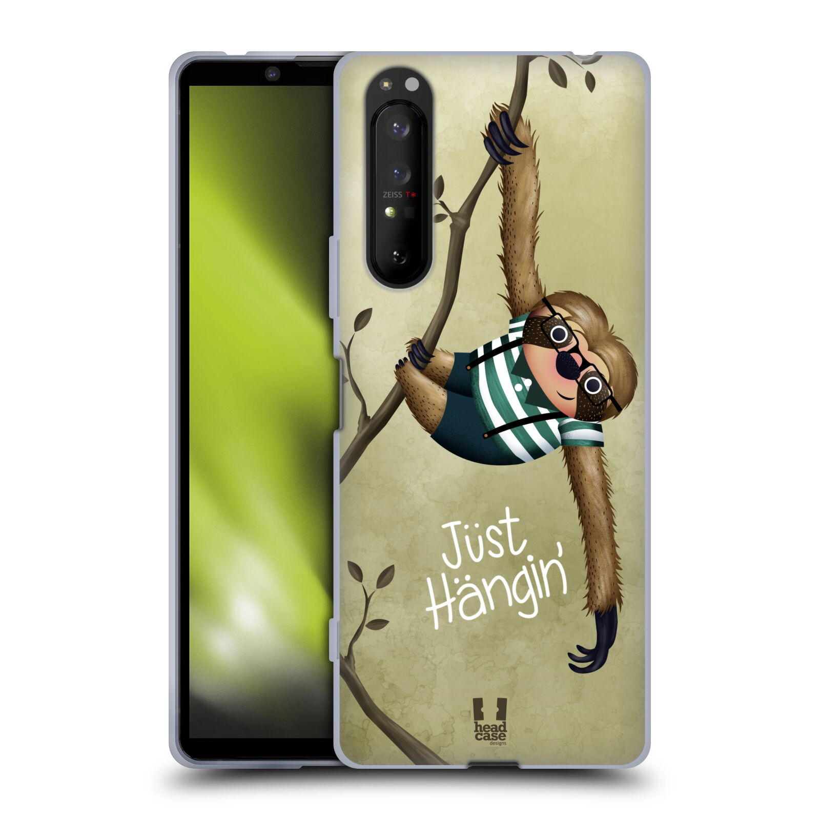 Silikonové pouzdro na mobil Sony Xperia 1 II - Head Case - Lenochod Just Hangin