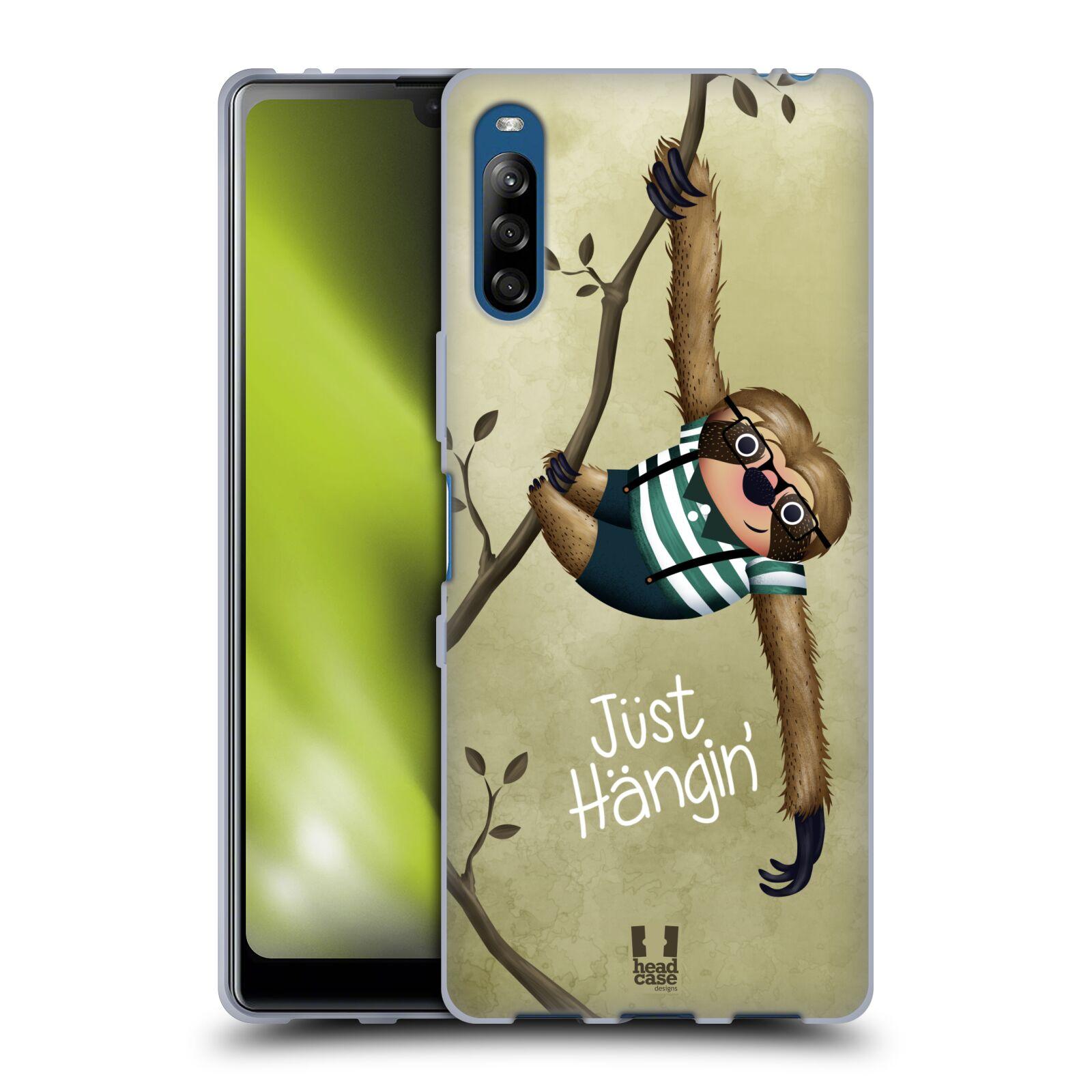 Silikonové pouzdro na mobil Sony Xperia L4 - Head Case - Lenochod Just Hangin