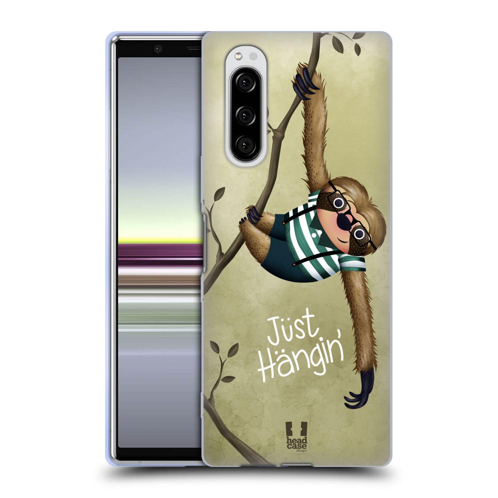 Silikonové pouzdro na mobil Sony Xperia 5 - Head Case - Lenochod Just Hangin