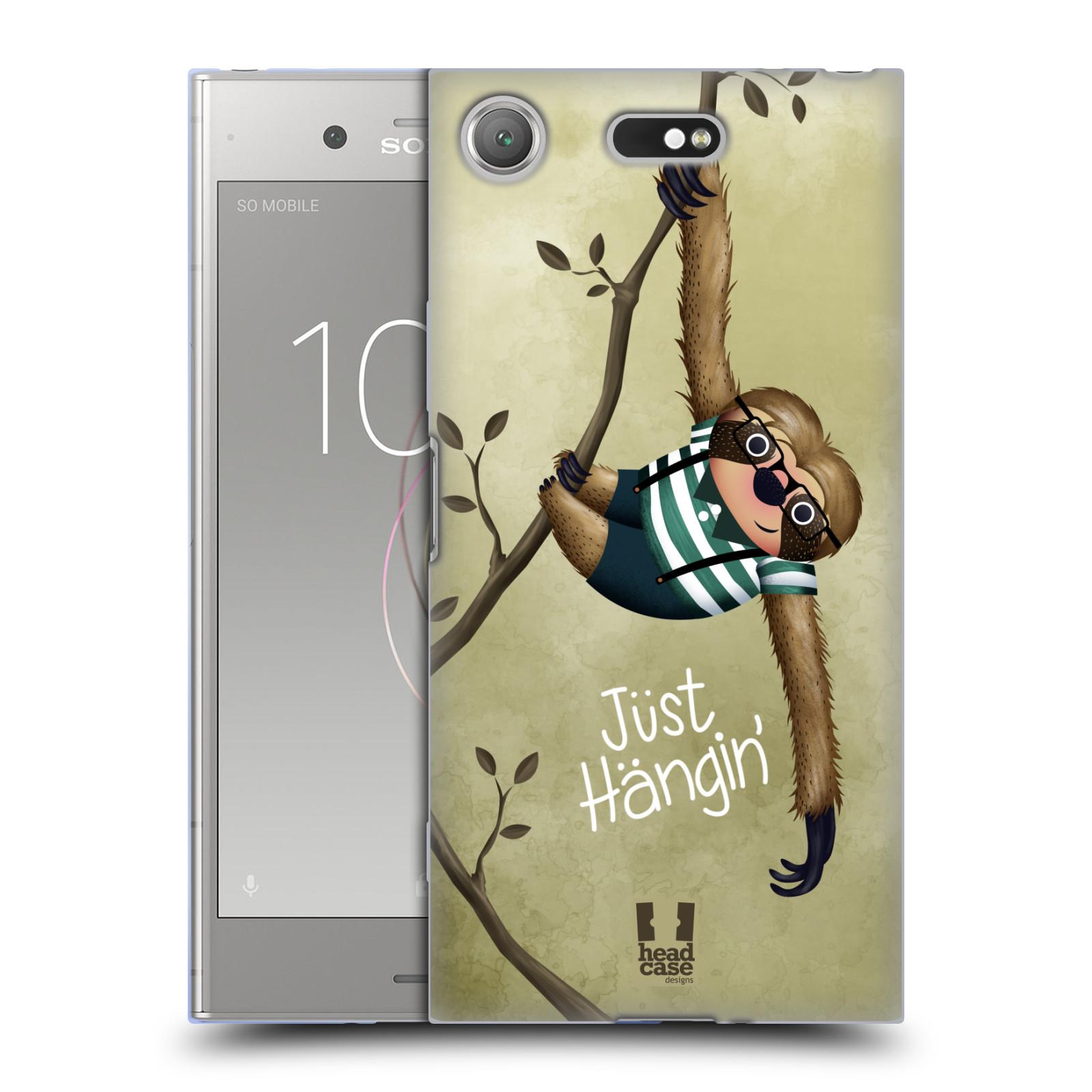 Silikonové pouzdro na mobil Sony Xperia XZ1 Compact - Head Case - Lenochod Just Hangin
