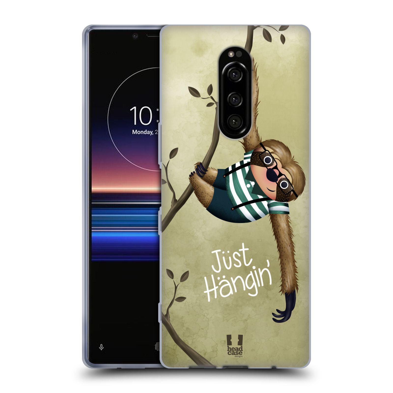 Silikonové pouzdro na mobil Sony Xperia 1 - Head Case - Lenochod Just Hangin