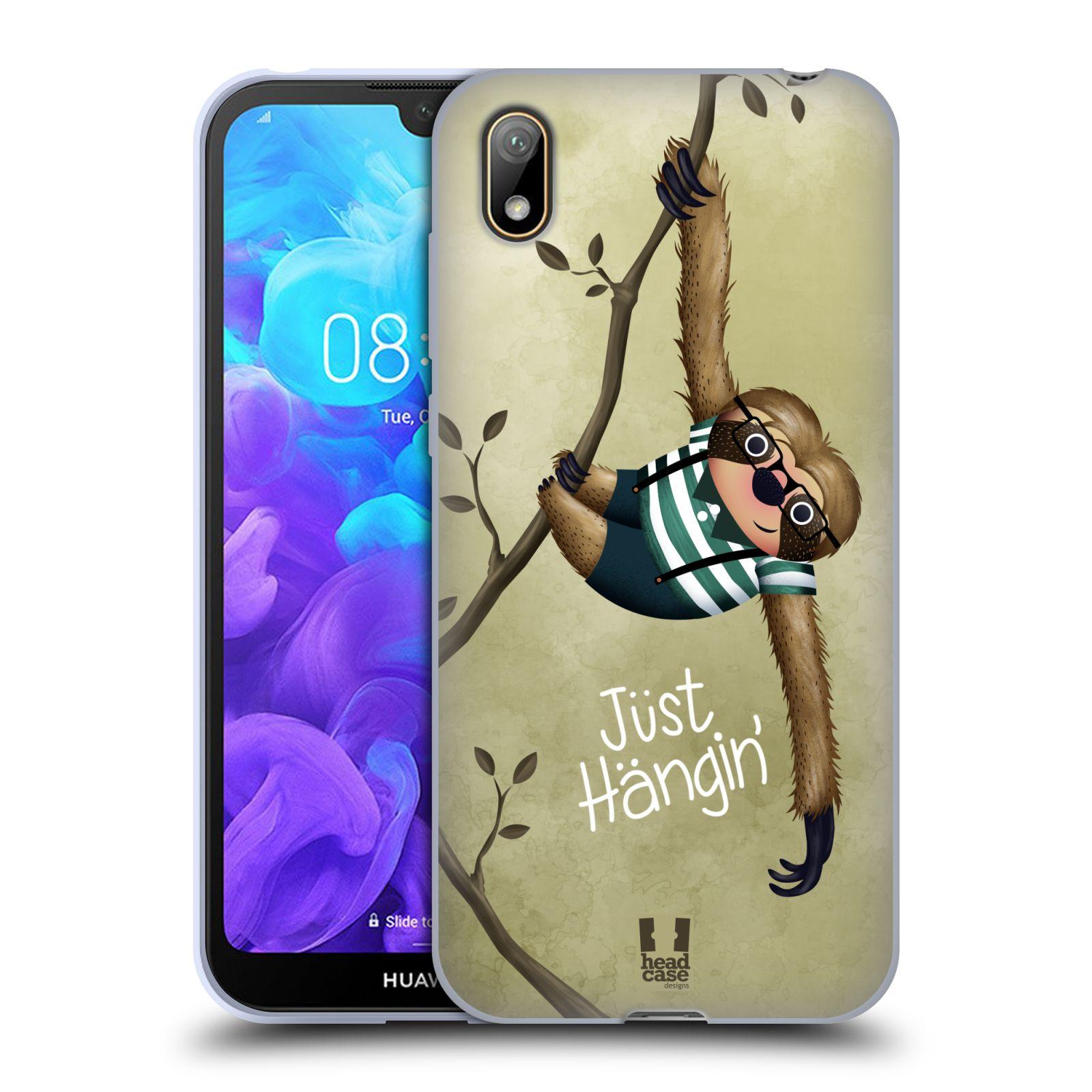 Silikonové pouzdro na mobil Huawei Y5 (2019) - Head Case - Lenochod Just Hangin