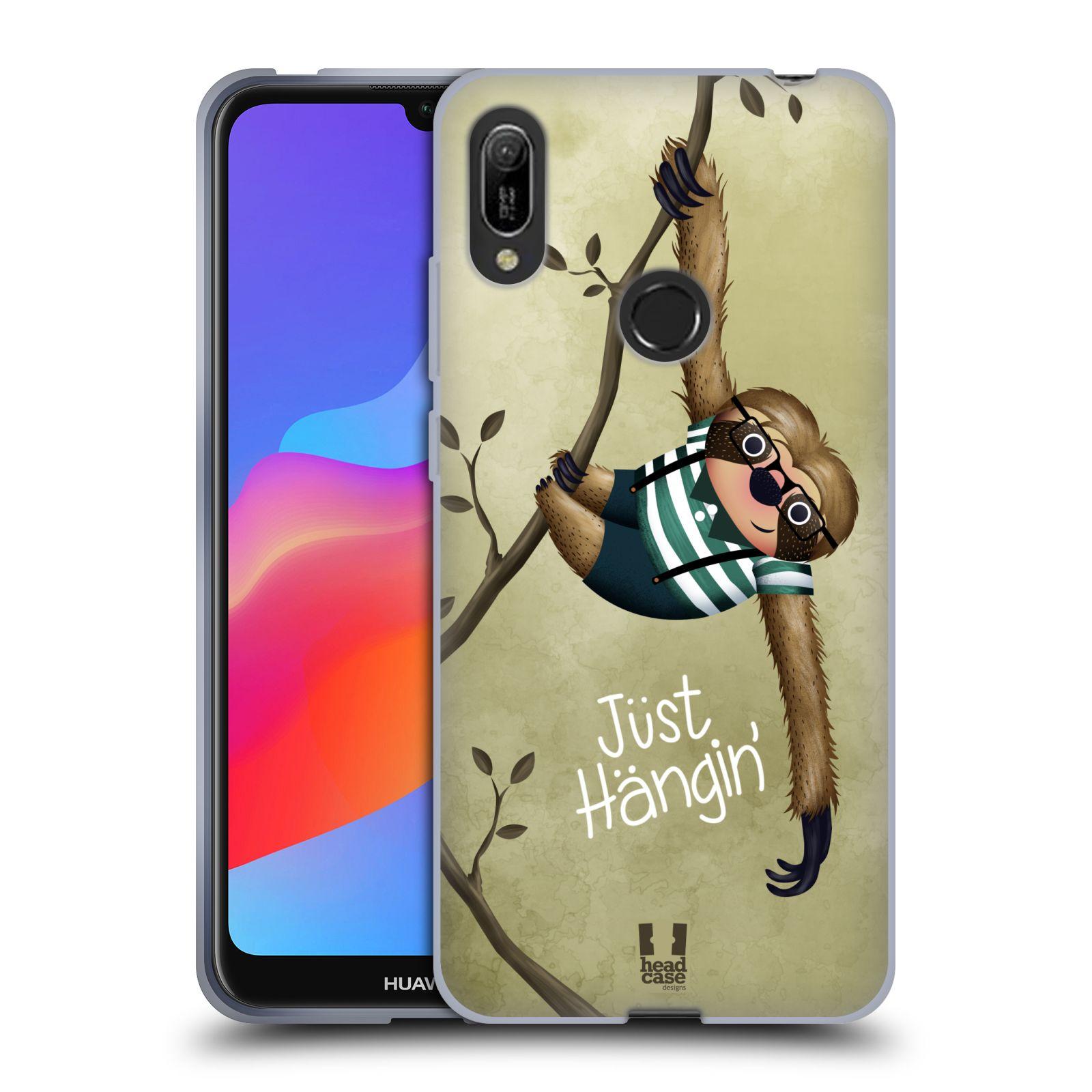 Silikonové pouzdro na mobil Huawei Y6 (2019) - Head Case - Lenochod Just Hangin
