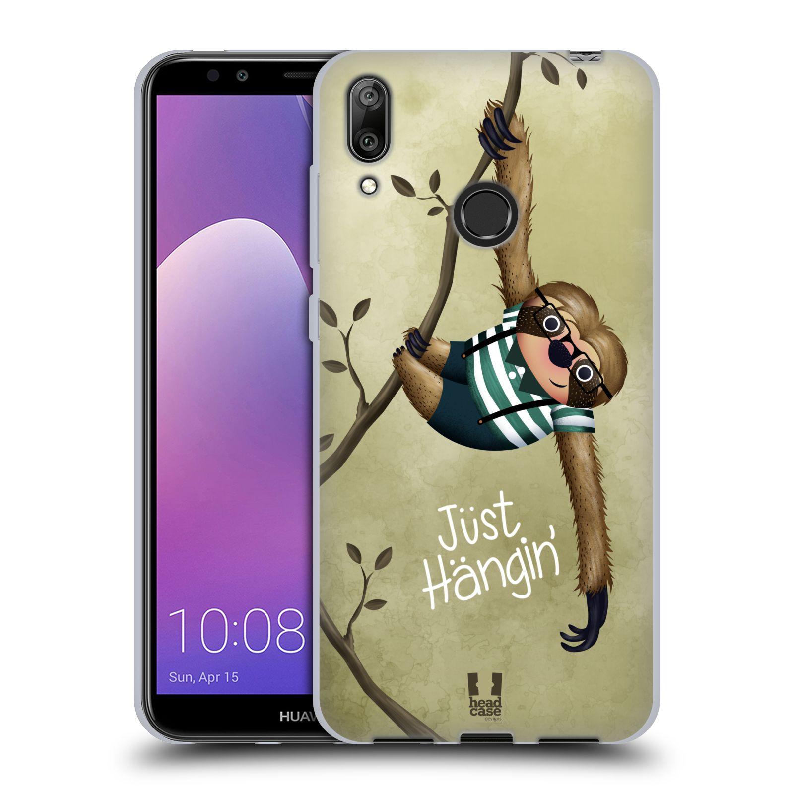 Silikonové pouzdro na mobil Huawei Y7 (2019) - Head Case - Lenochod Just Hangin