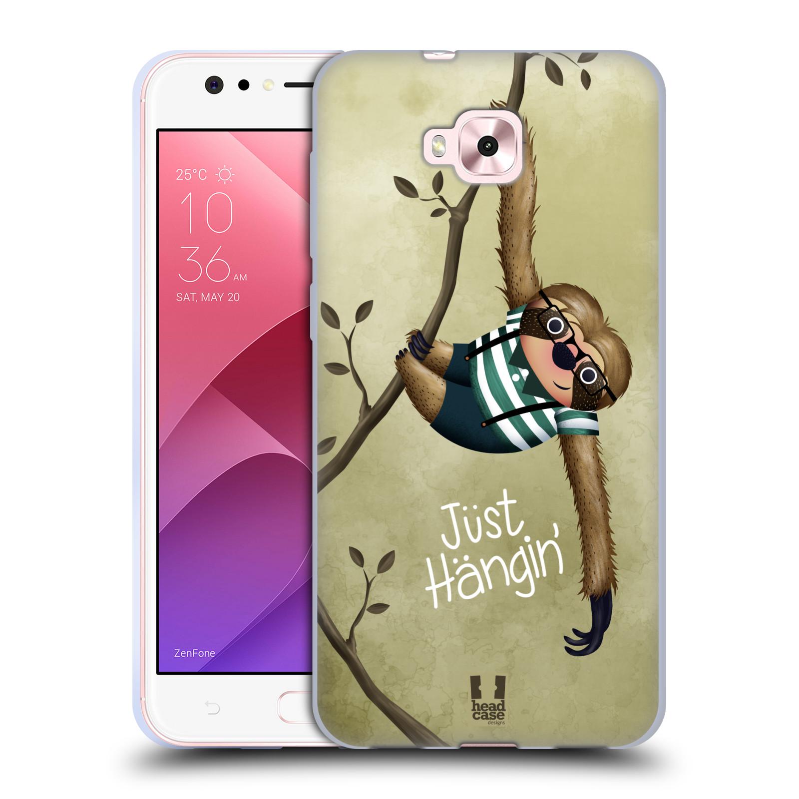 Silikonové pouzdro na mobil Asus Zenfone 4 Selfie ZD553KL - Head Case - Lenochod Just Hangin
