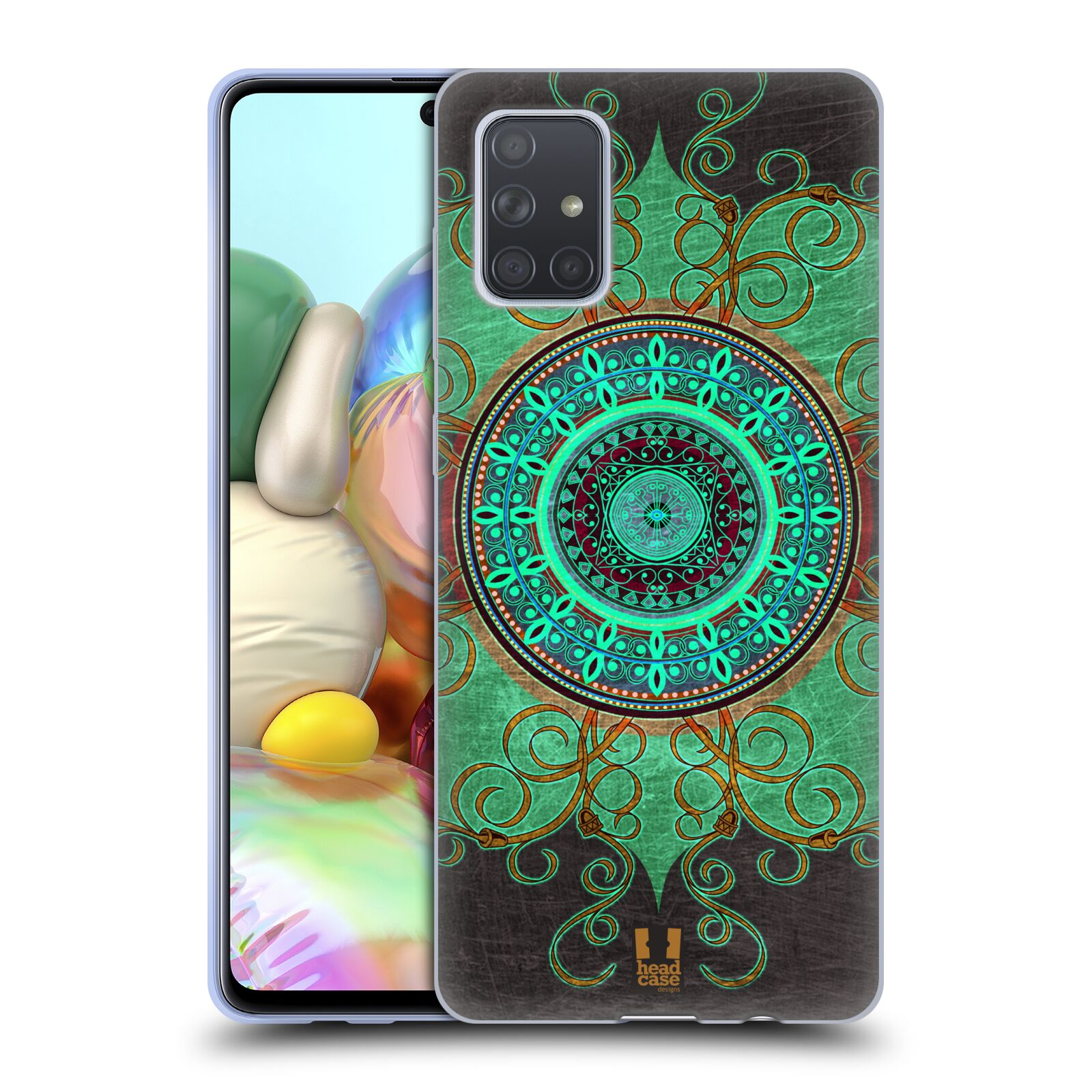 Silikonové pouzdro na mobil Samsung Galaxy A71 - Head Case - ARAB MANDALA
