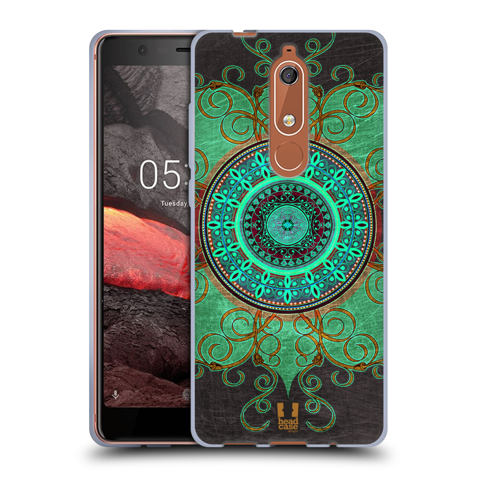 Silikonové pouzdro na mobil Nokia 5.1 - Head Case - ARAB MANDALA