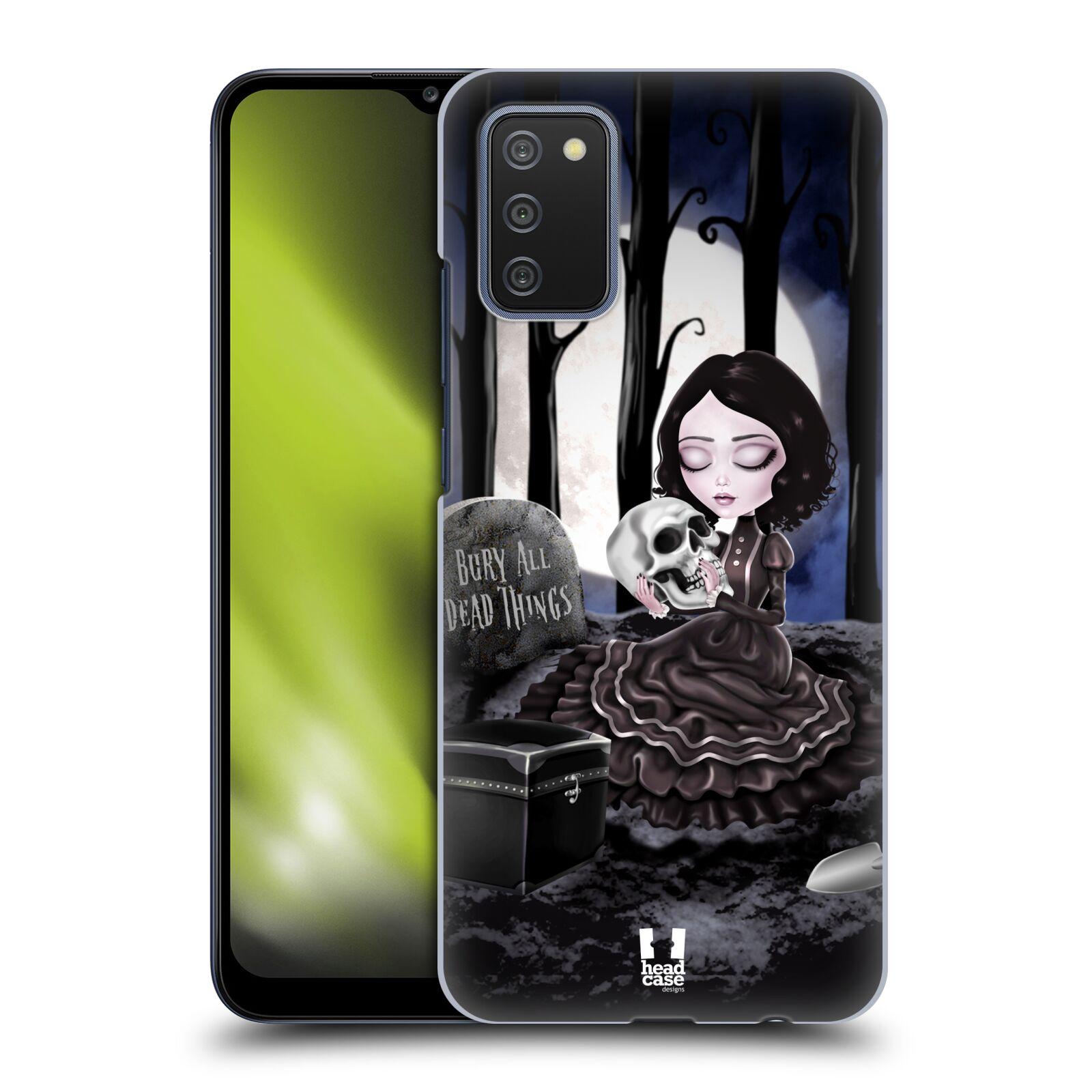 Plastové pouzdro na mobil Samsung Galaxy A02s - Head Case - MACABRE HŘBITOV