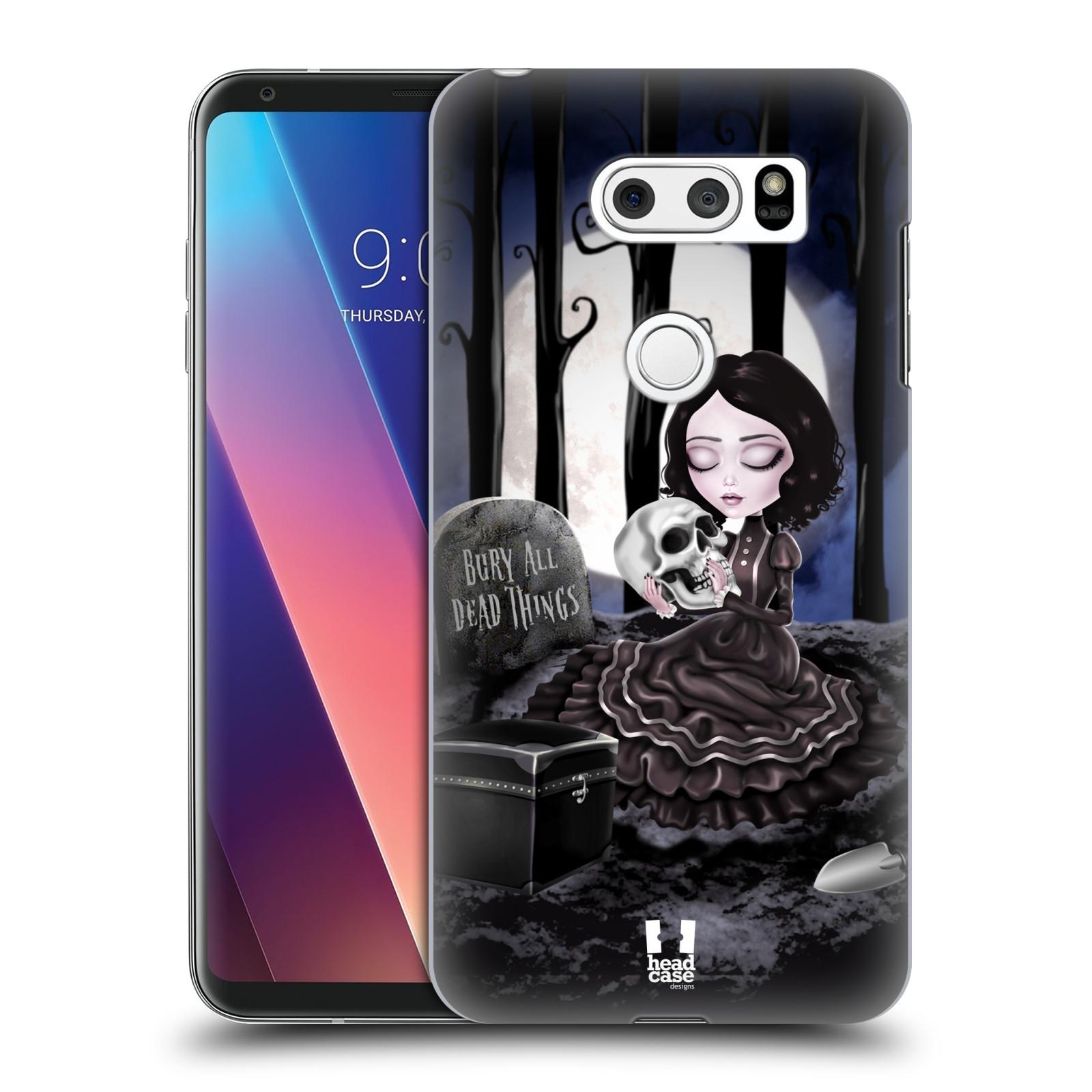 Plastové pouzdro na mobil LG V30 - Head Case - MACABRE HŘBITOV