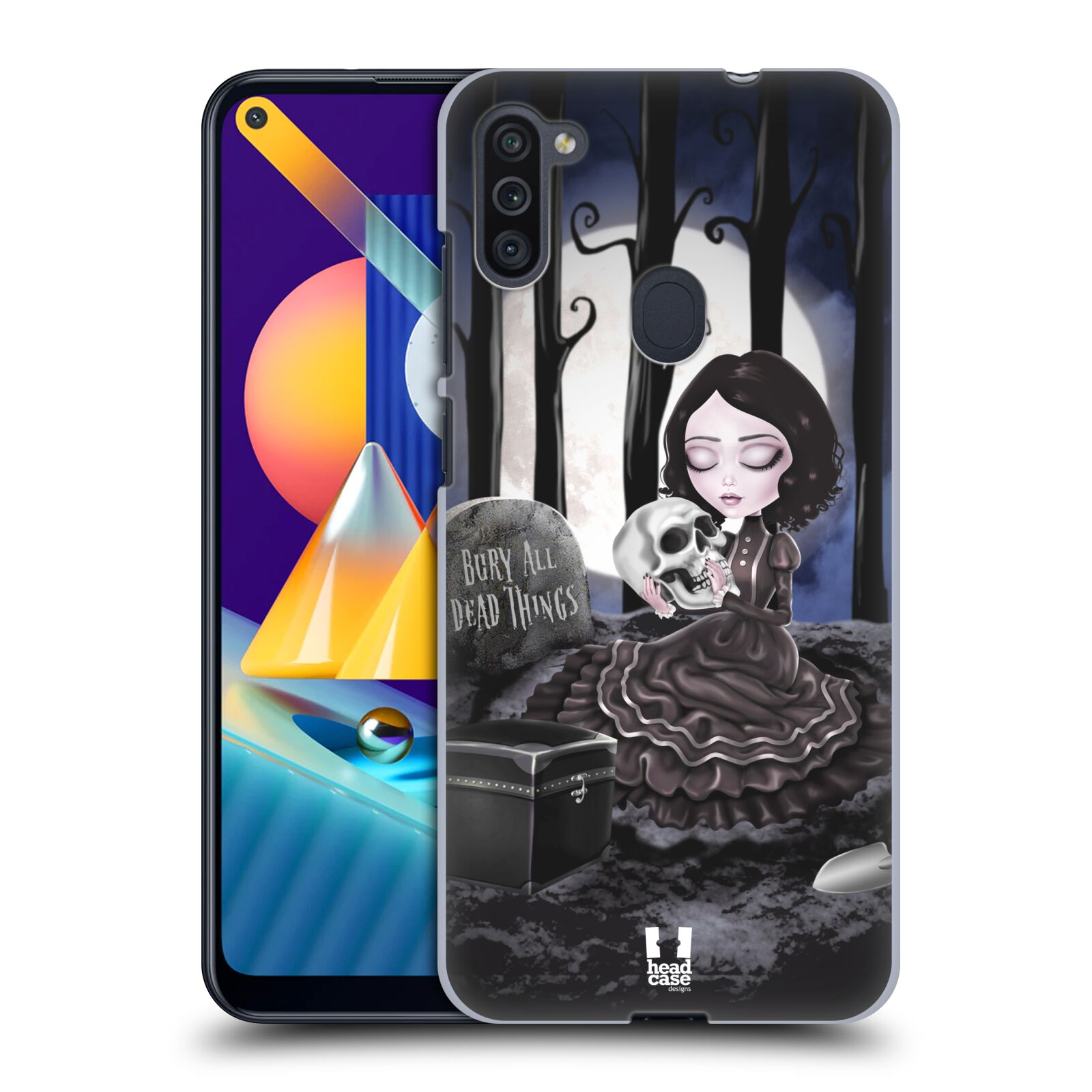 Plastové pouzdro na mobil Samsung Galaxy M11 - Head Case - MACABRE HŘBITOV