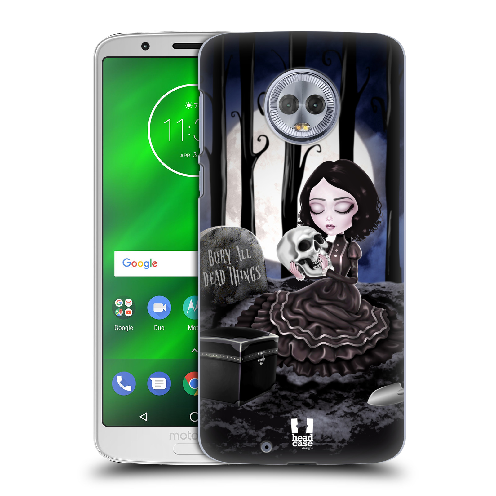Plastové pouzdro na mobil Motorola Moto G6 - Head Case - MACABRE HŘBITOV