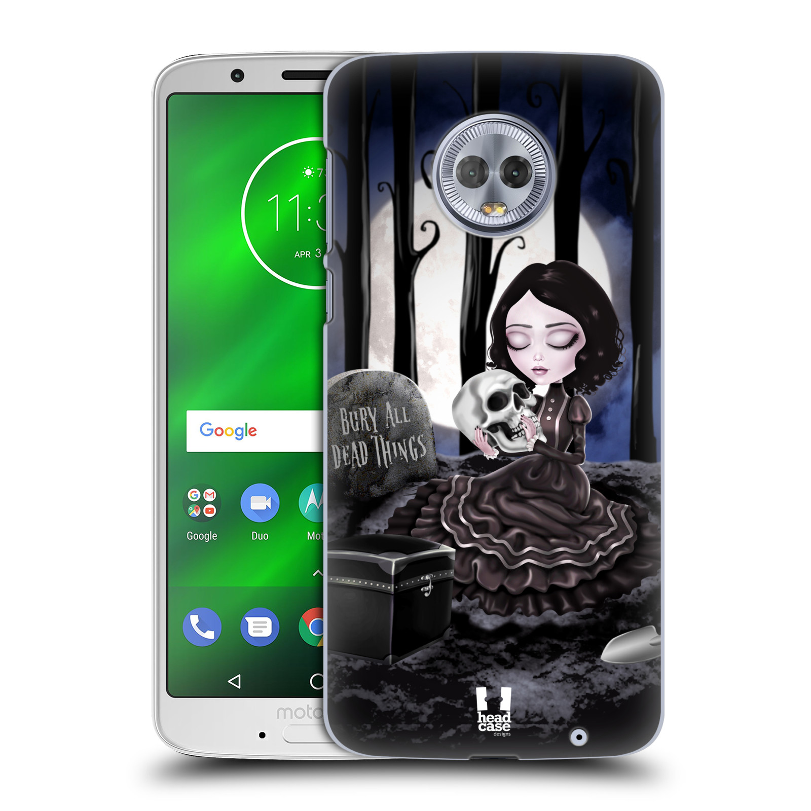 Plastové pouzdro na mobil Motorola Moto G6 Plus - Head Case - MACABRE HŘBITOV