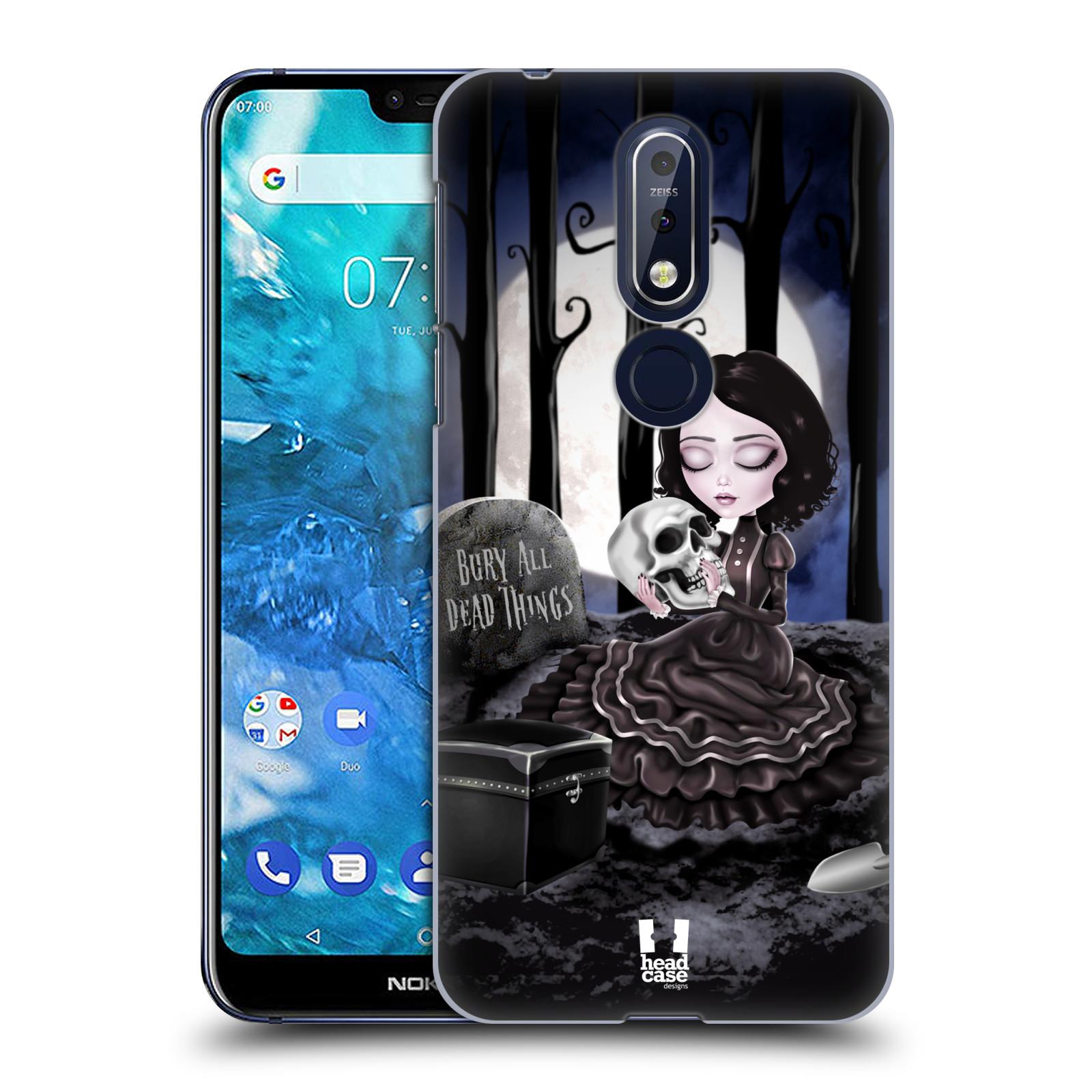 Plastové pouzdro na mobil Nokia 7.1 - Head Case - MACABRE HŘBITOV