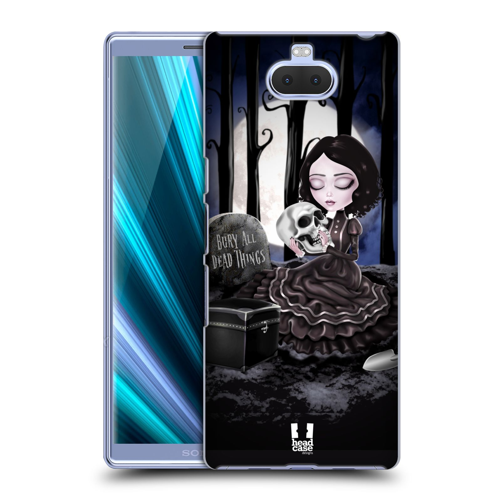 Plastové pouzdro na mobil Sony Xperia 10 - Head Case - MACABRE HŘBITOV