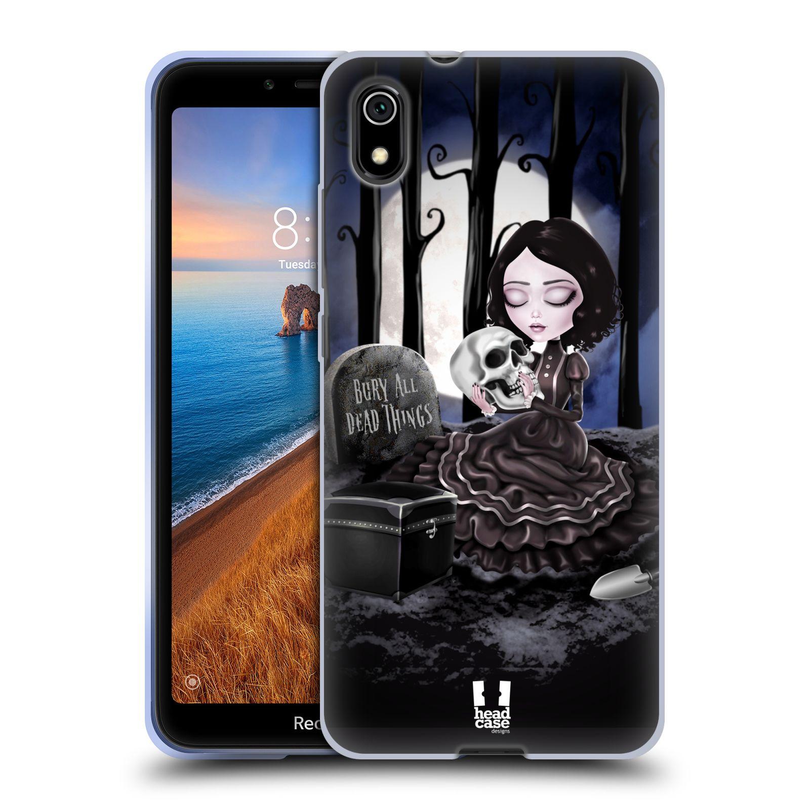 Silikonové pouzdro na mobil Redmi 7A - Head Case - MACABRE HŘBITOV