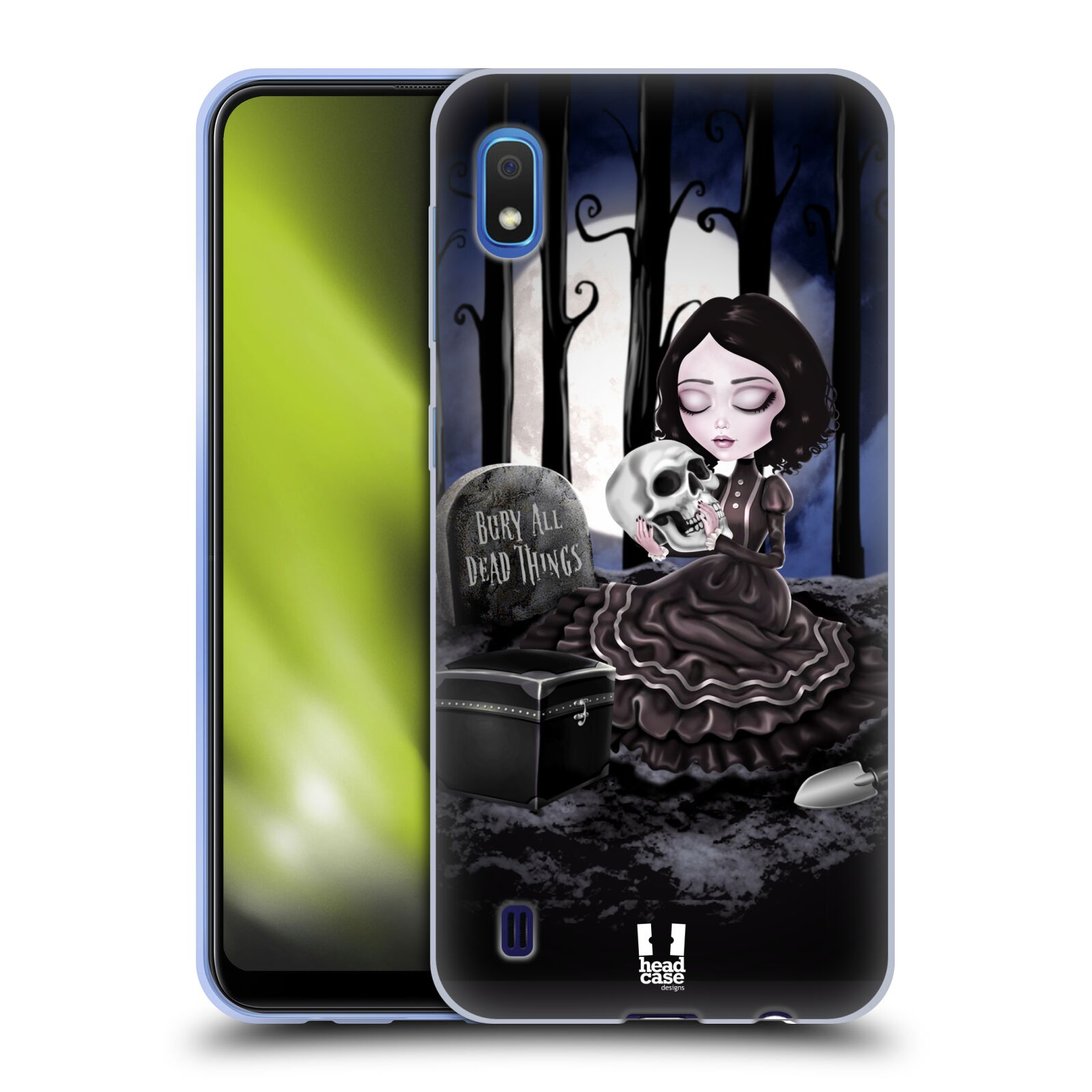 Silikonové pouzdro na mobil Samsung Galaxy A10 - Head Case - MACABRE HŘBITOV
