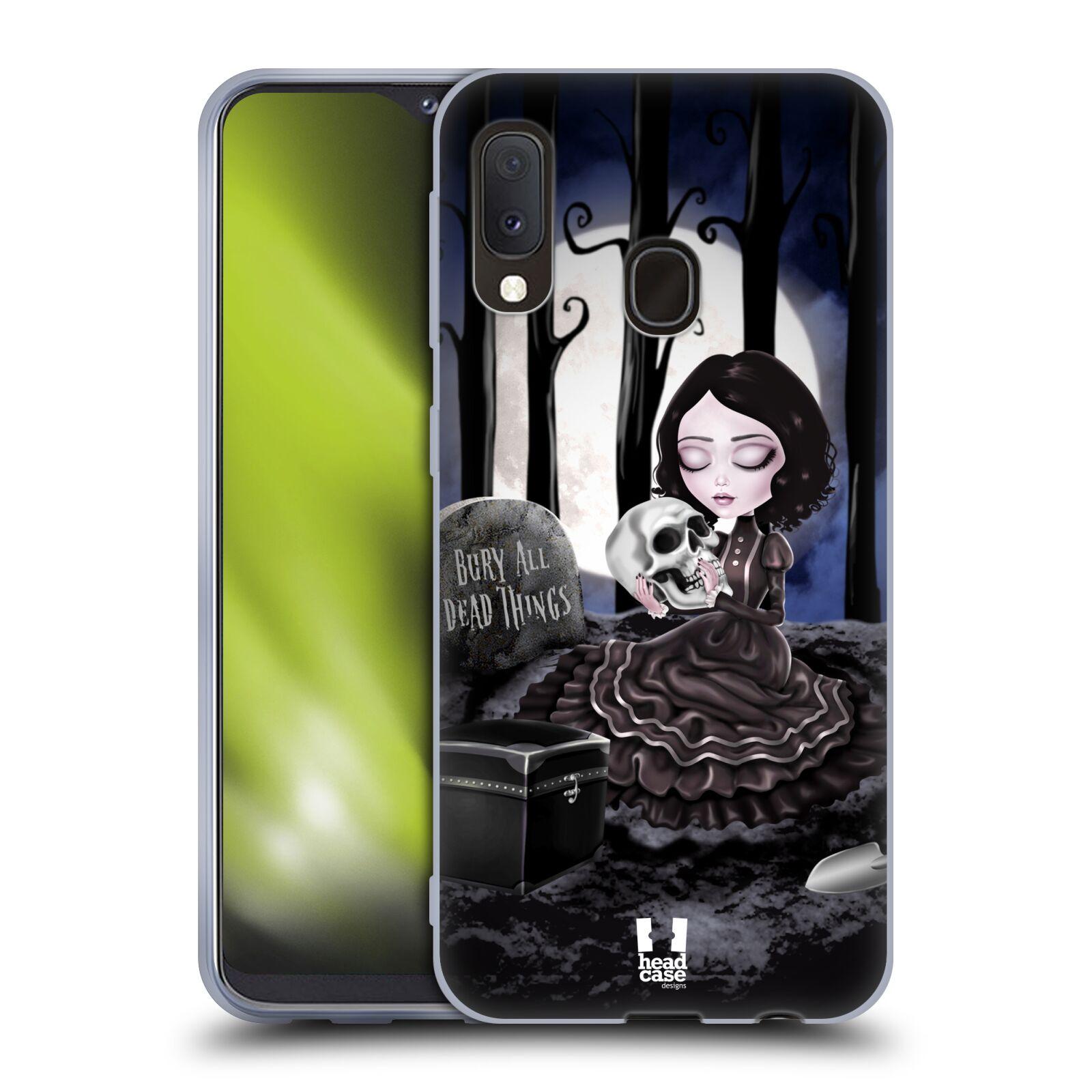 Silikonové pouzdro na mobil Samsung Galaxy A20e - Head Case - MACABRE HŘBITOV