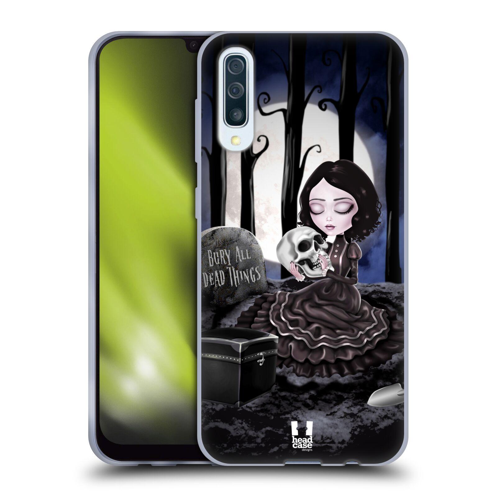 Silikonové pouzdro na mobil Samsung Galaxy A50 / A30s - Head Case - MACABRE HŘBITOV