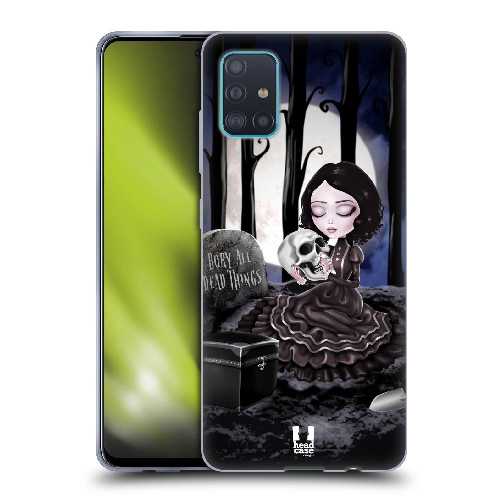 Silikonové pouzdro na mobil Samsung Galaxy A51 - Head Case - MACABRE HŘBITOV