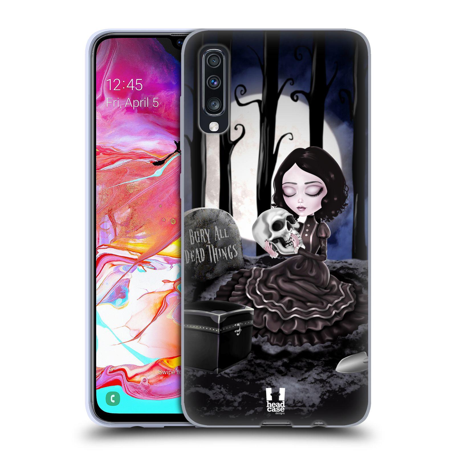 Silikonové pouzdro na mobil Samsung Galaxy A70 - Head Case - MACABRE HŘBITOV