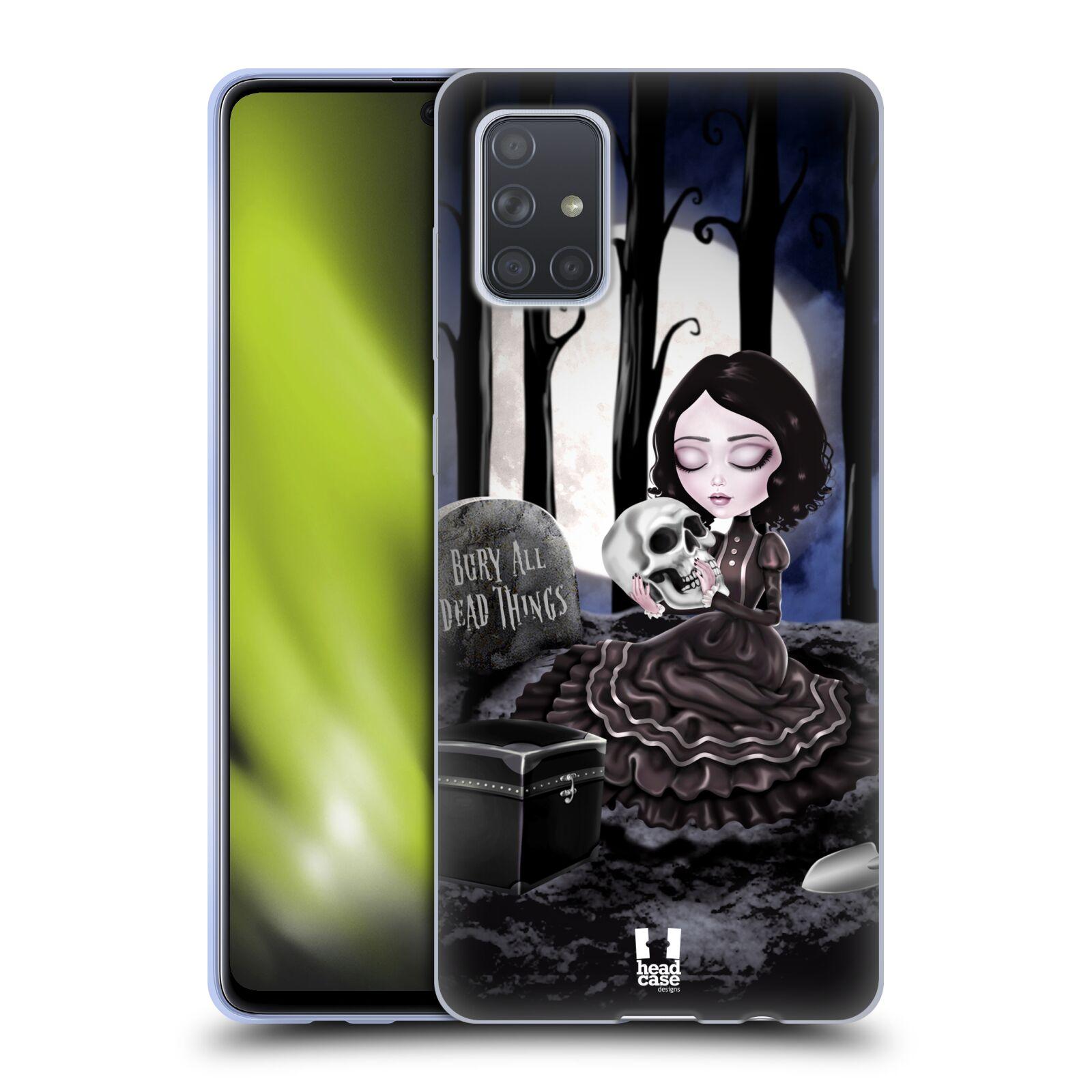 Silikonové pouzdro na mobil Samsung Galaxy A71 - Head Case - MACABRE HŘBITOV