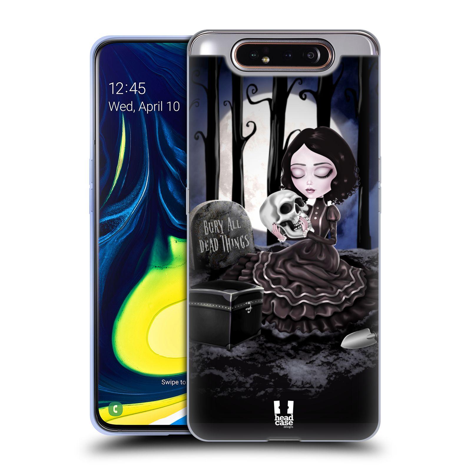 Silikonové pouzdro na mobil Samsung Galaxy A80 - Head Case - MACABRE HŘBITOV