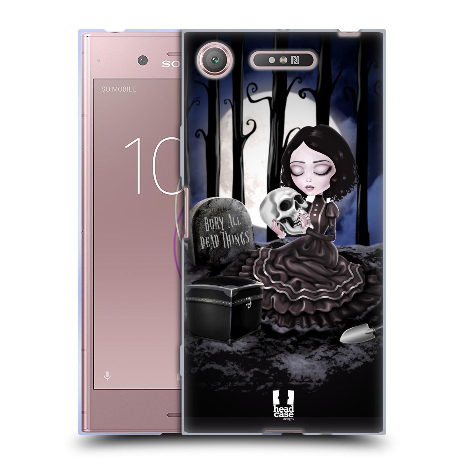 Silikonové pouzdro na mobil Sony Xperia XZ1 - Head Case - MACABRE HŘBITOV