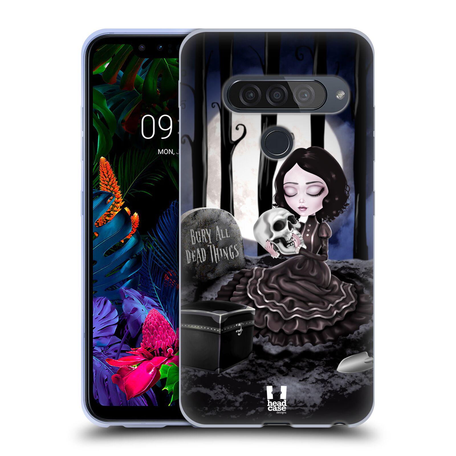 Silikonové pouzdro na mobil LG G8s ThinQ - Head Case - MACABRE HŘBITOV