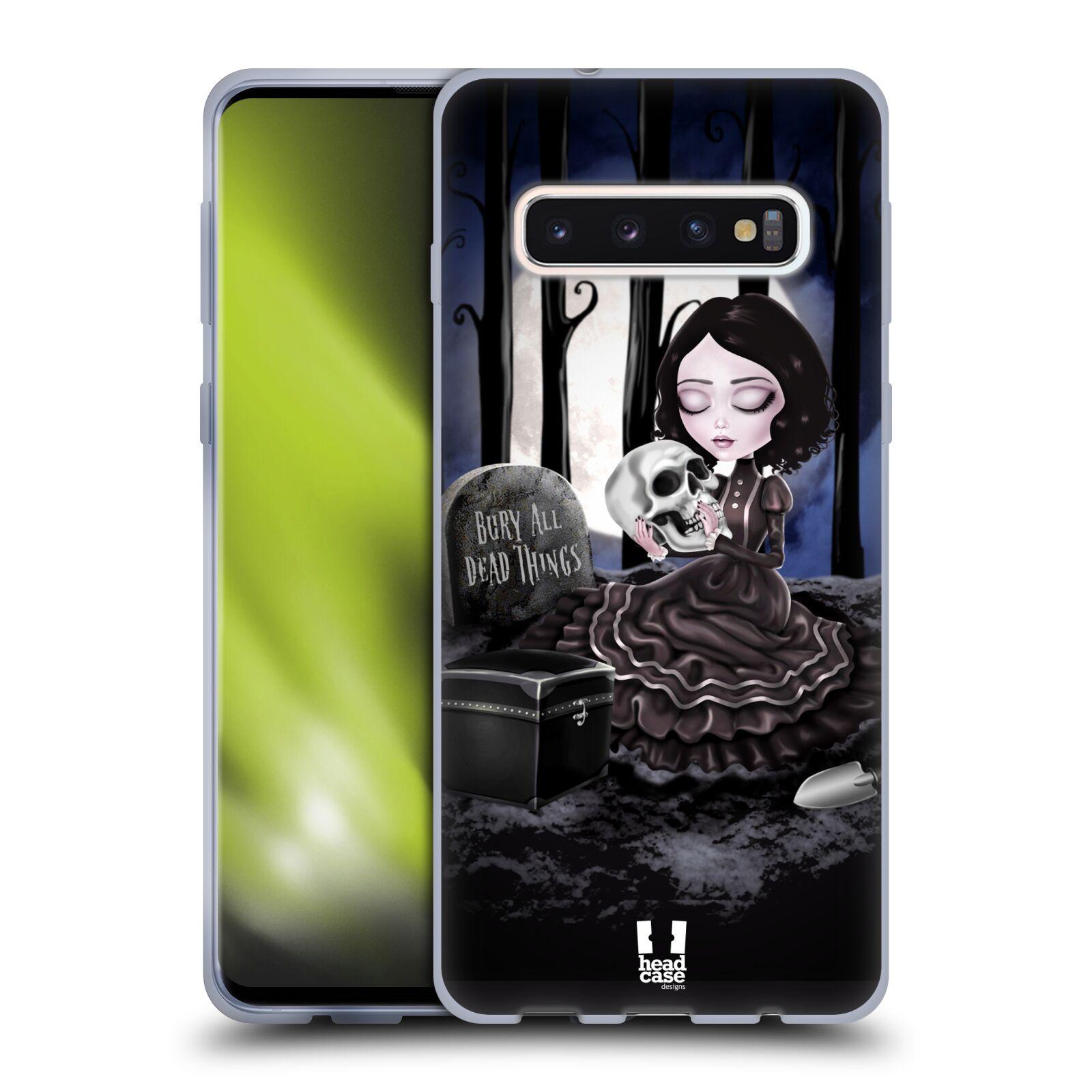 Silikonové pouzdro na mobil Samsung Galaxy S10 - Head Case - MACABRE HŘBITOV